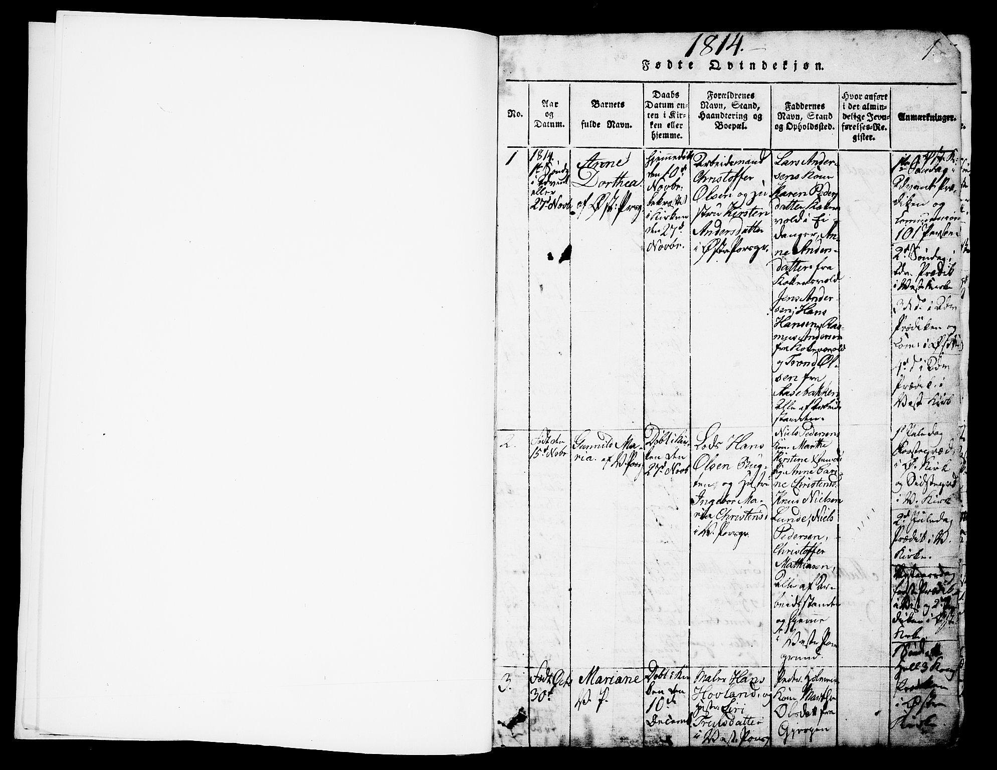 SAKO, Porsgrunn kirkebøker , G/Gb/L0001: Klokkerbok nr. II 1, 1817-1828, s. 0-1