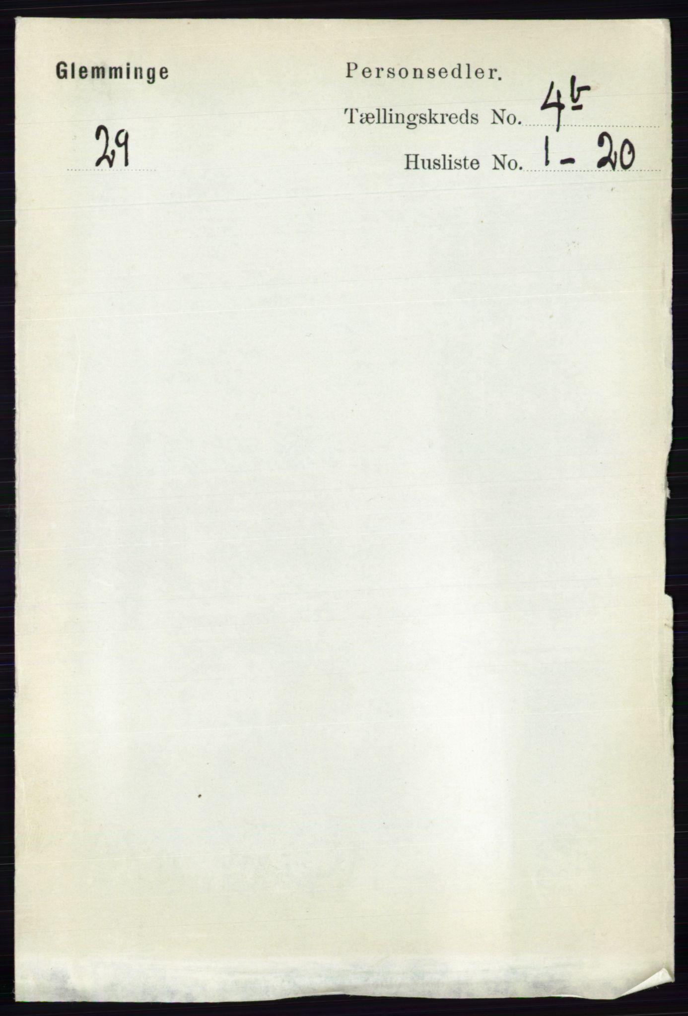 RA, Folketelling 1891 for 0132 Glemmen herred, 1891, s. 4833