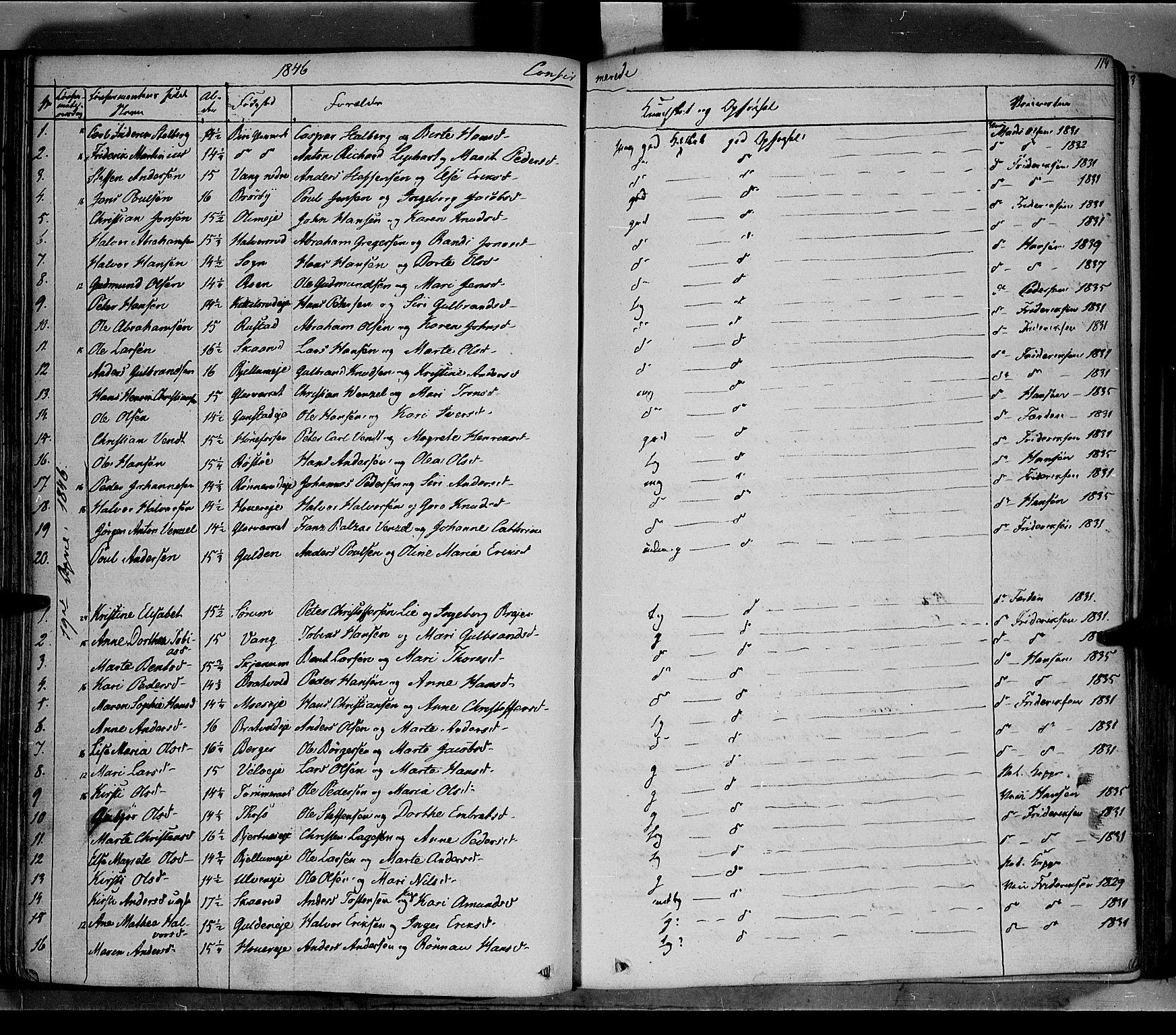 SAH, Jevnaker prestekontor, Ministerialbok nr. 6, 1837-1857, s. 114