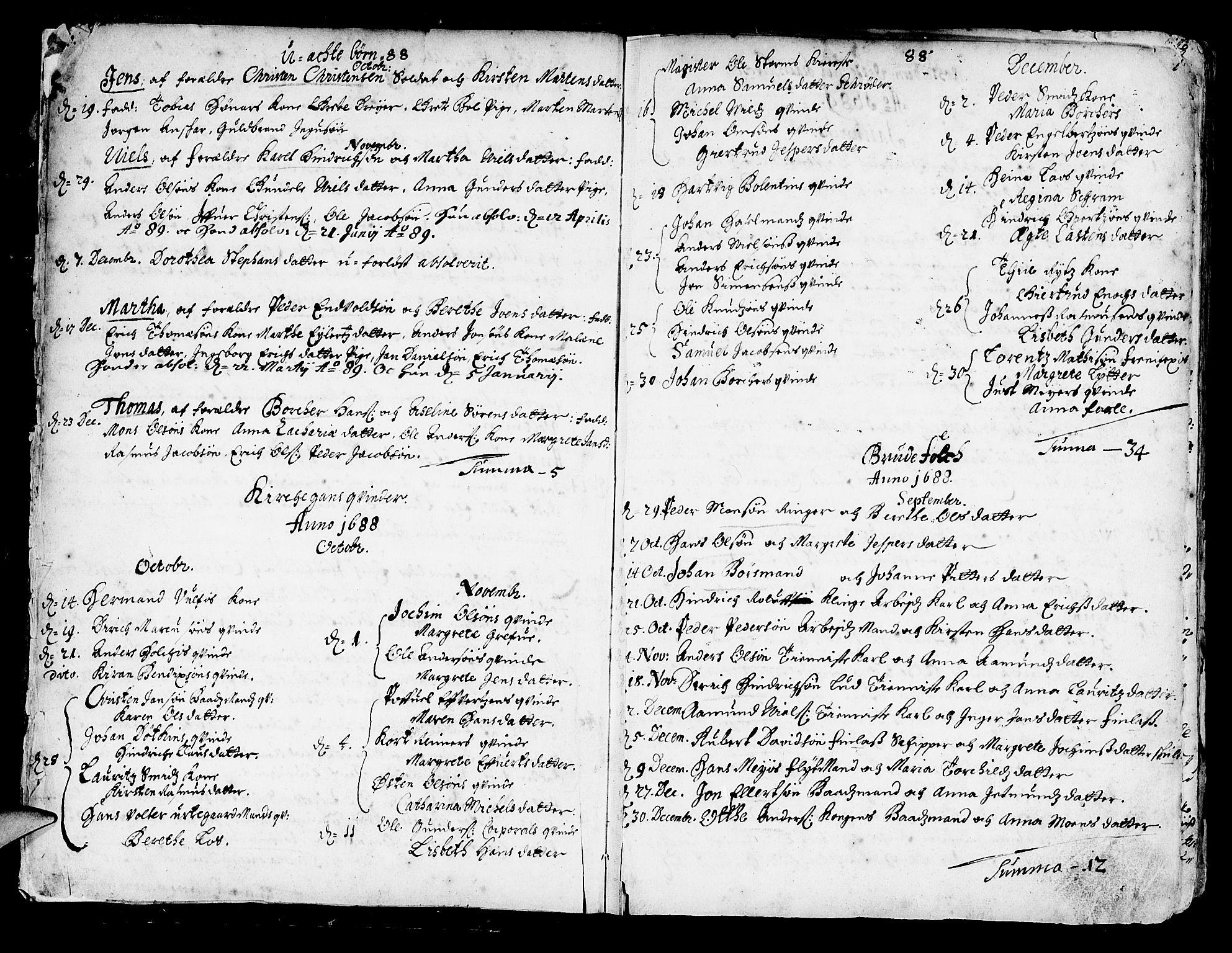 SAB, Korskirken Sokneprestembete, H/Haa/L0002: Ministerialbok nr. A 2, 1688-1697, s. 6-7