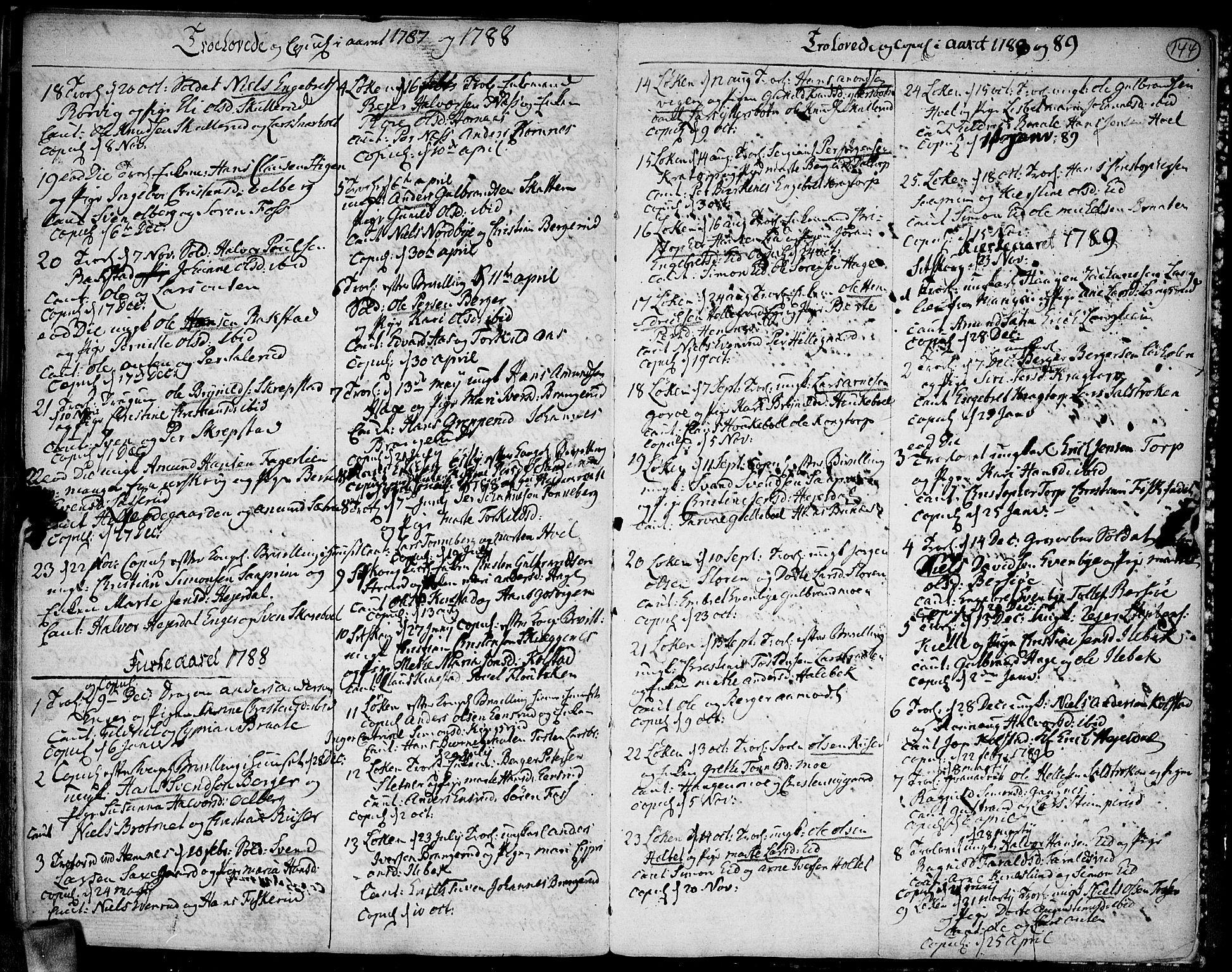 SAO, Høland prestekontor Kirkebøker, F/Fa/L0005: Ministerialbok nr. I 5, 1780-1793, s. 144