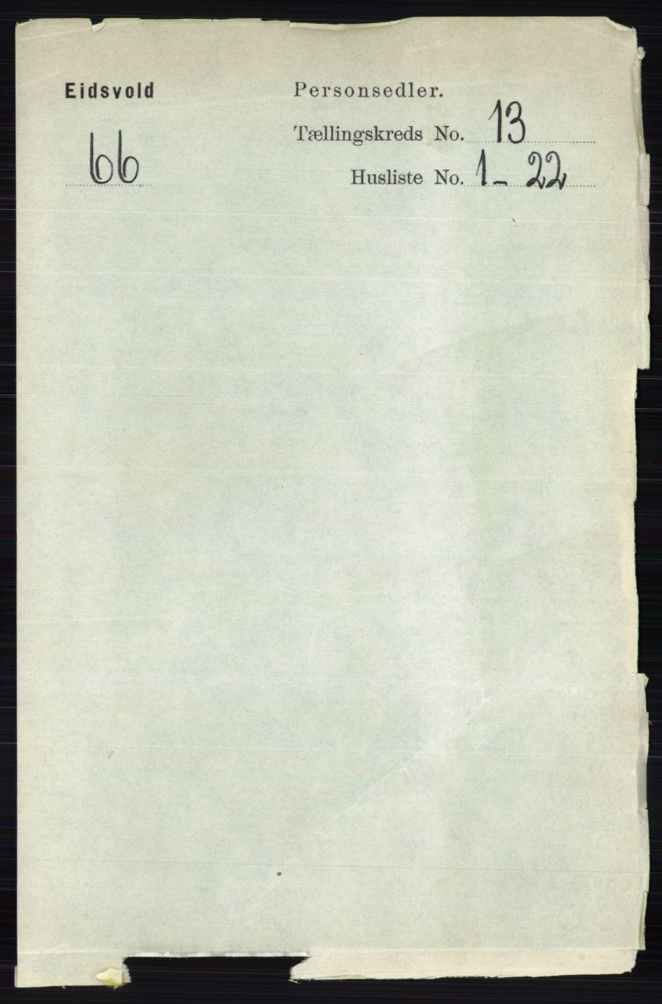 RA, Folketelling 1891 for 0237 Eidsvoll herred, 1891, s. 8992