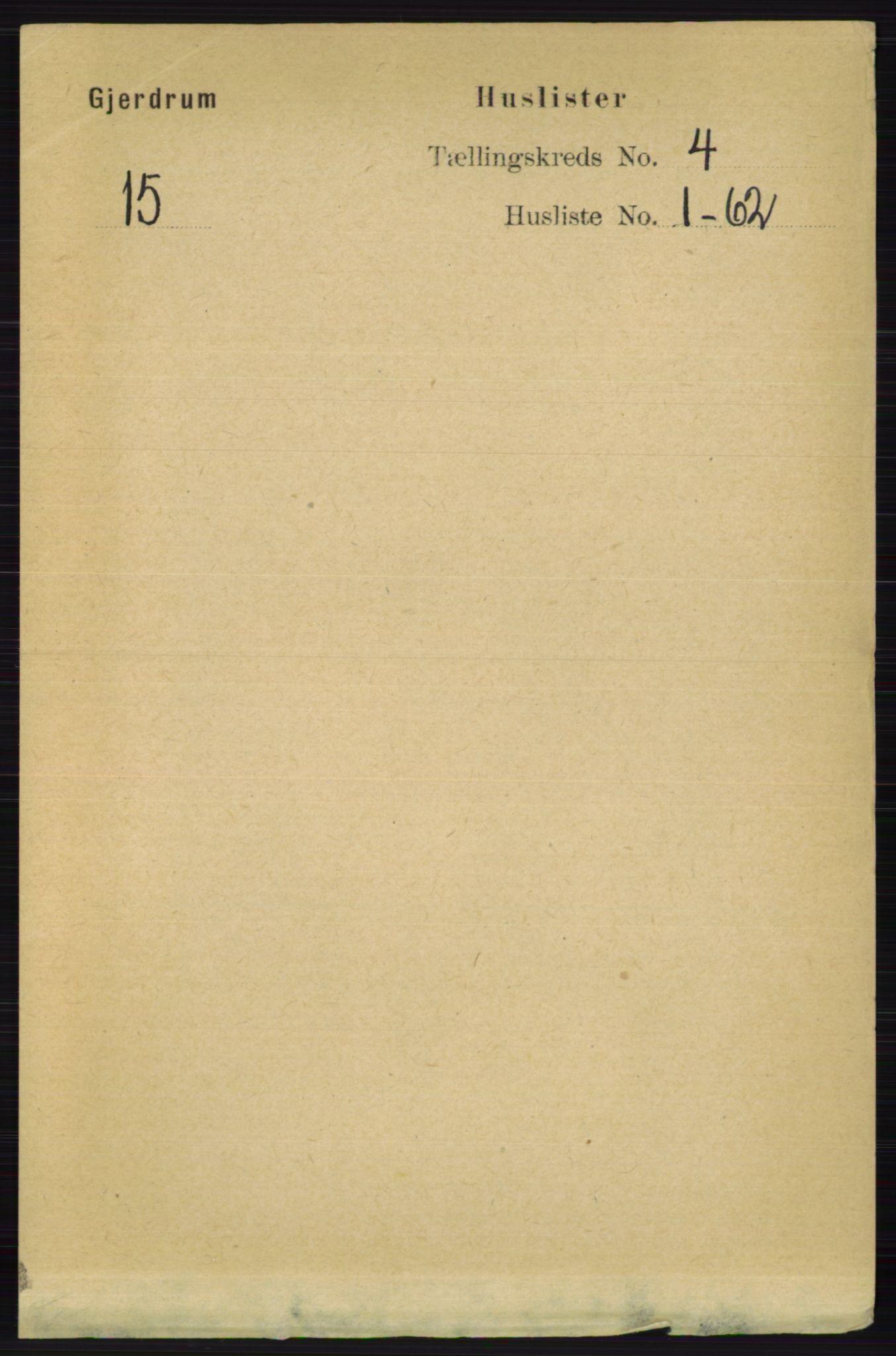 RA, Folketelling 1891 for 0234 Gjerdrum herred, 1891, s. 1749