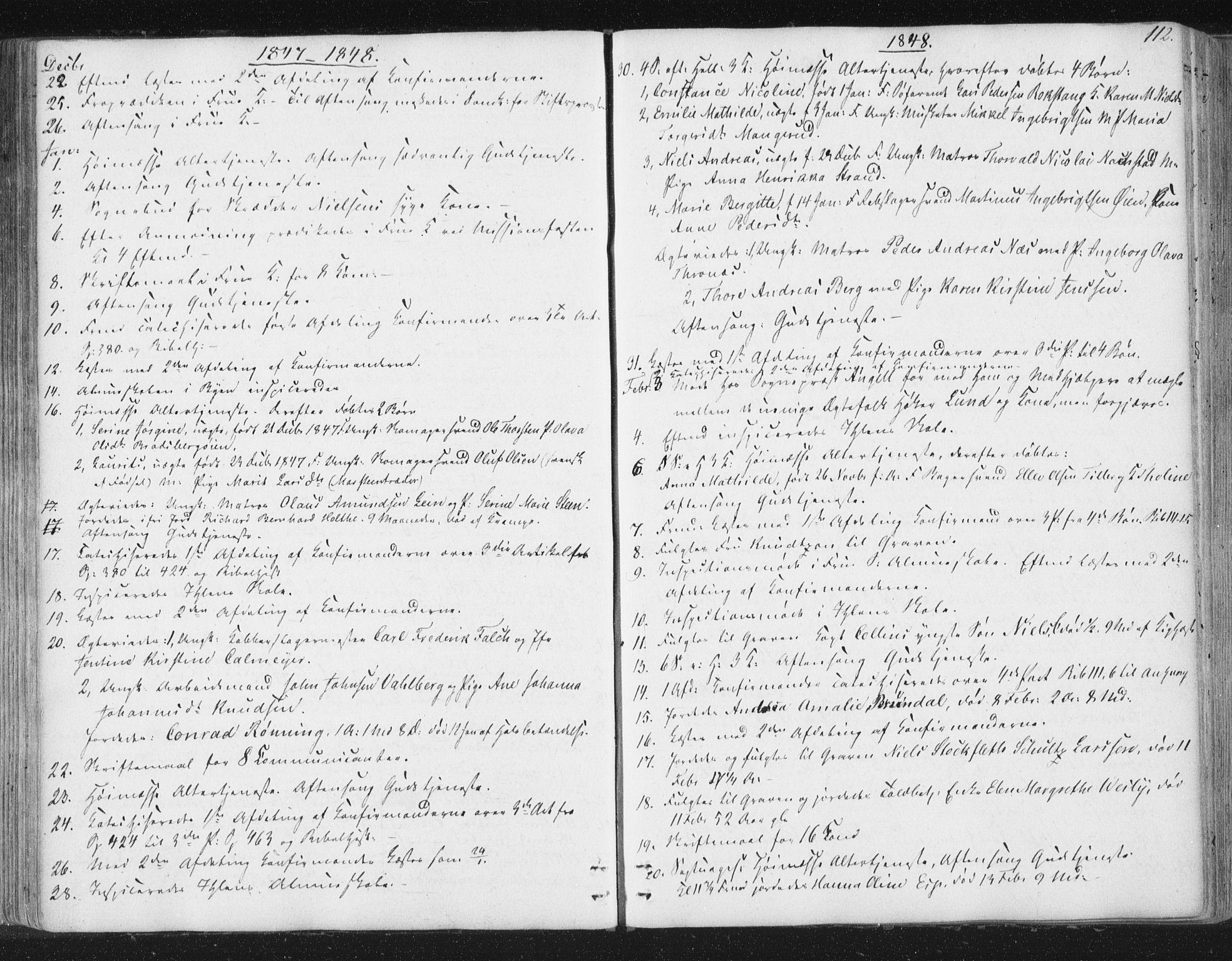 SAT, Ministerialprotokoller, klokkerbøker og fødselsregistre - Sør-Trøndelag, 602/L0127: Residerende kapellans bok nr. 602B01, 1821-1875, s. 112