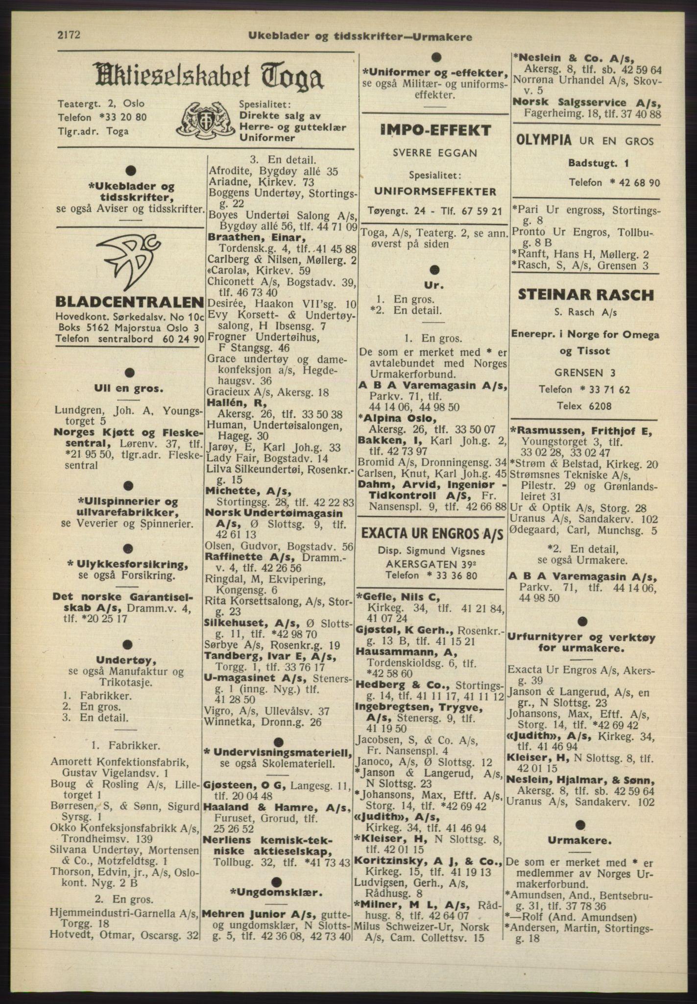PUBL, Kristiania/Oslo adressebok, 1965-1966, s. 2172