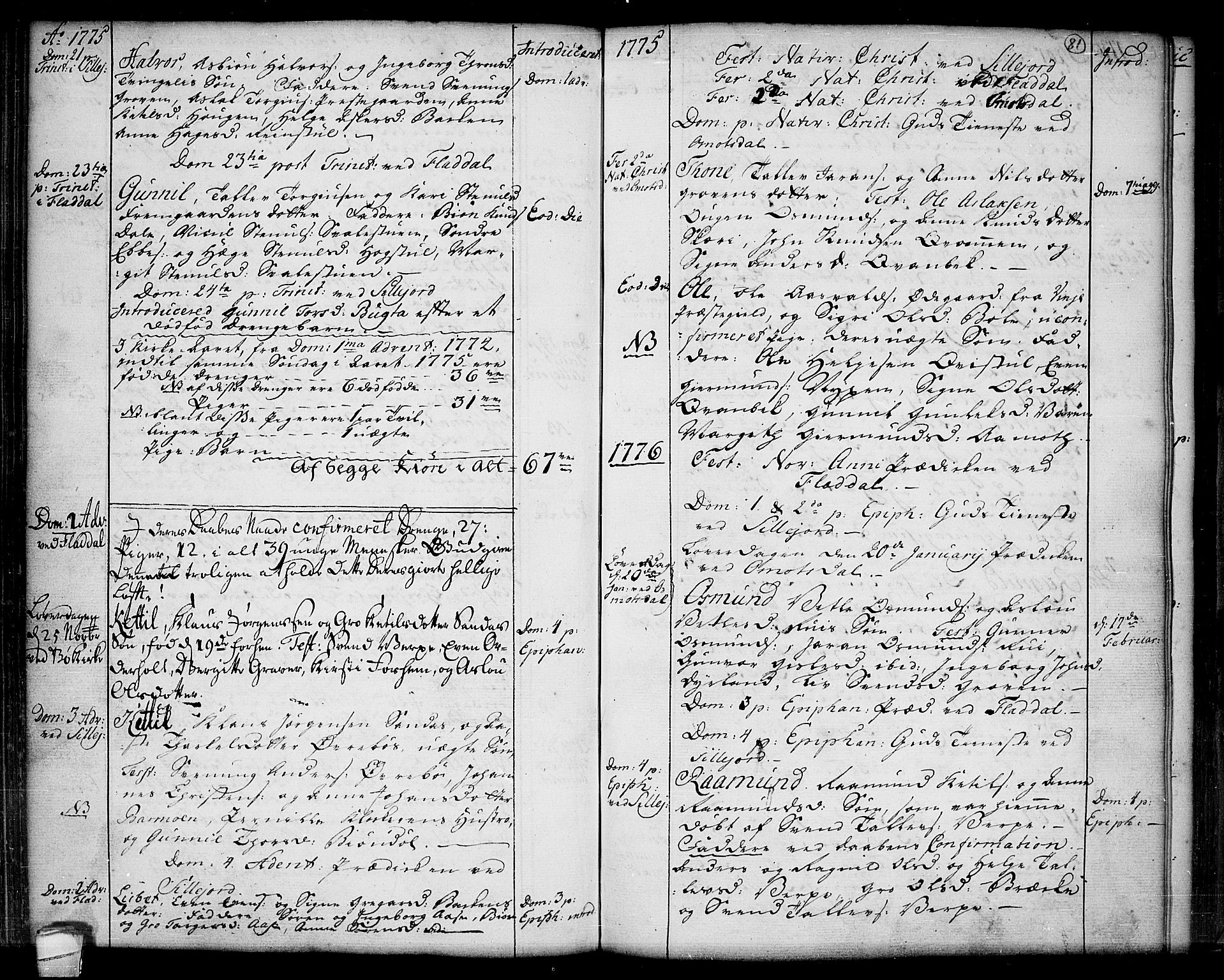 SAKO, Seljord kirkebøker, F/Fa/L0007: Ministerialbok nr. I 7, 1755-1800, s. 81