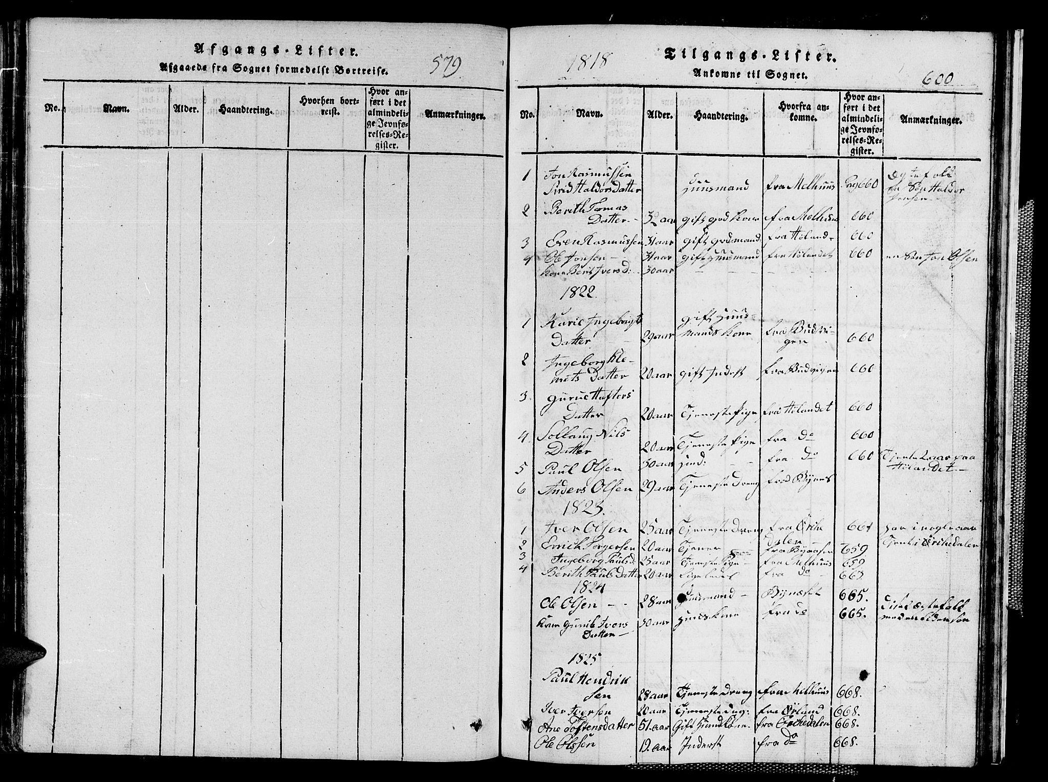 SAT, Ministerialprotokoller, klokkerbøker og fødselsregistre - Sør-Trøndelag, 667/L0796: Klokkerbok nr. 667C01, 1817-1836, s. 579-600