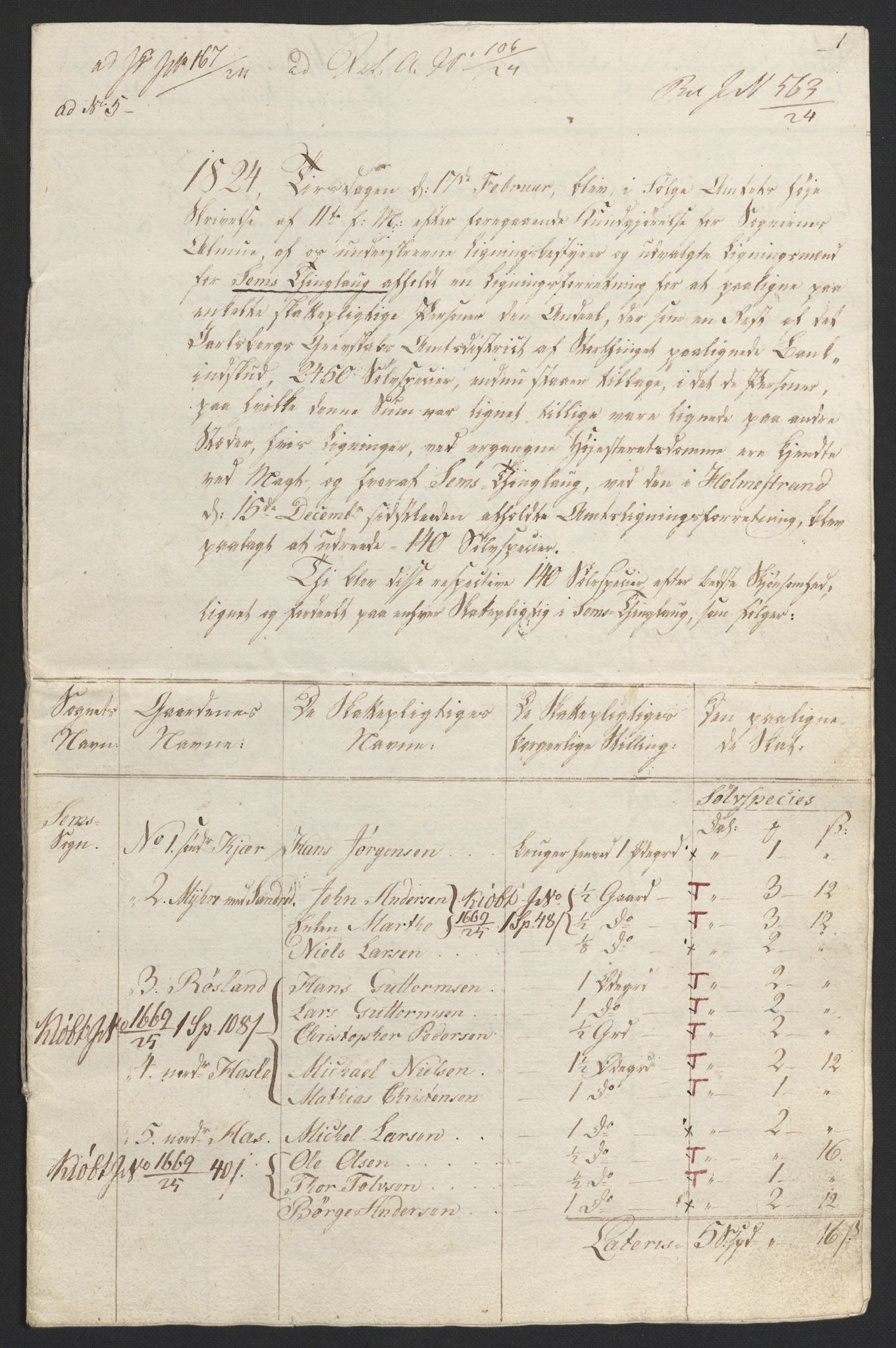 NOBA, Norges Bank/Sølvskatten 1816*, 1816-1824, s. 68