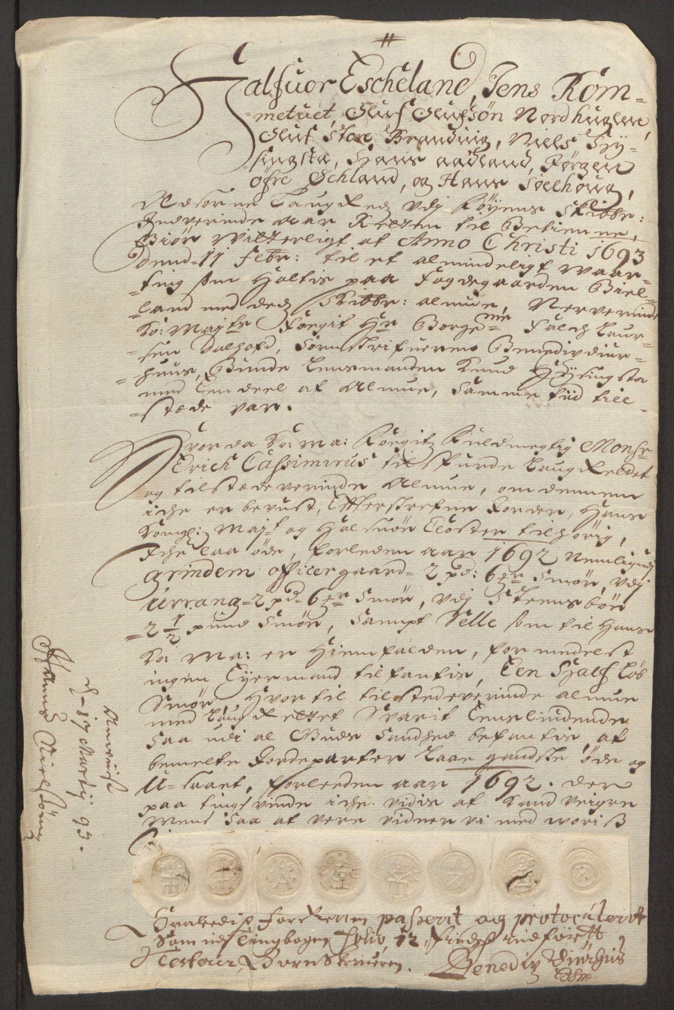 RA, Rentekammeret inntil 1814, Reviderte regnskaper, Fogderegnskap, R48/L2973: Fogderegnskap Sunnhordland og Hardanger, 1691-1692, s. 434