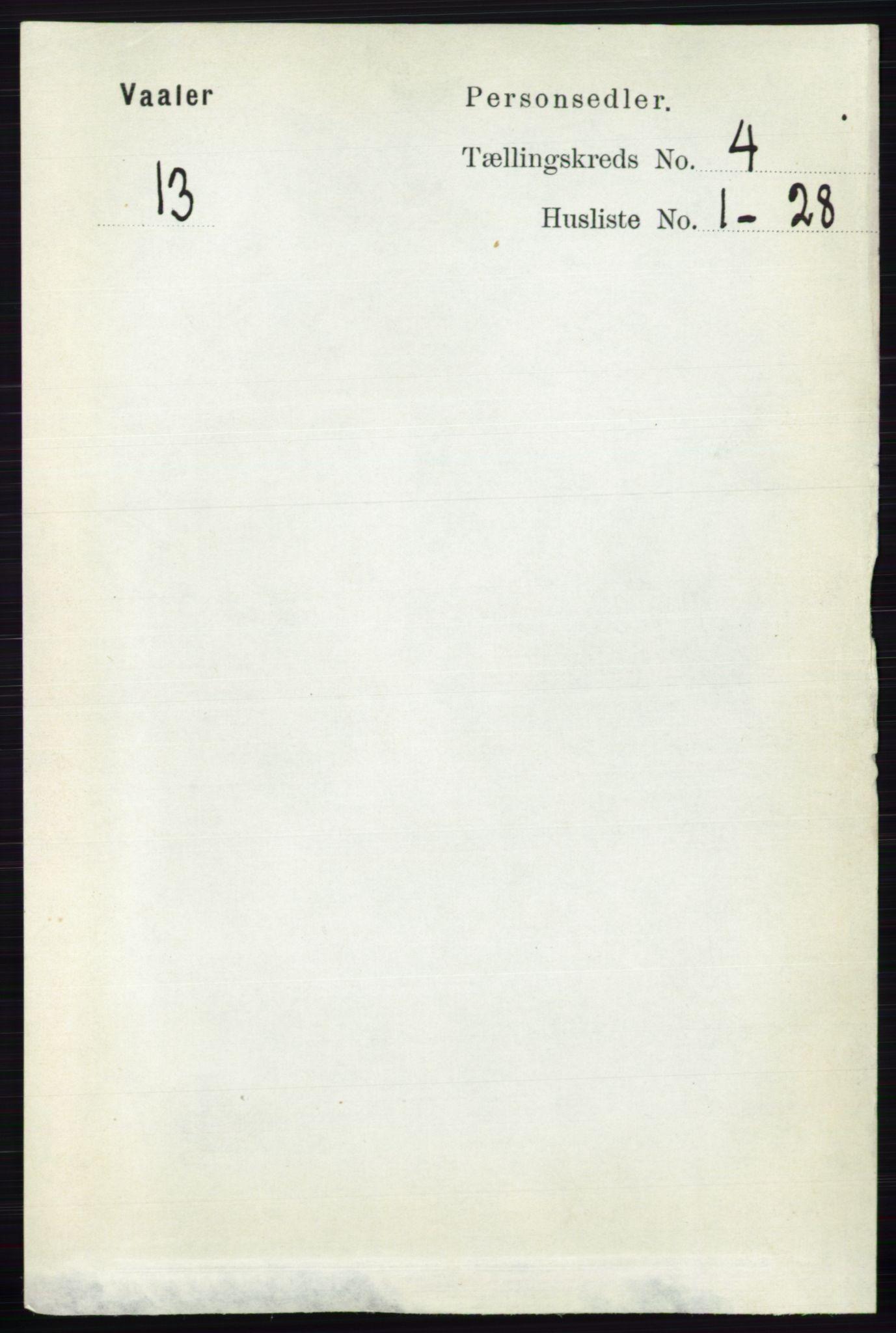RA, Folketelling 1891 for 0137 Våler herred, 1891, s. 1609