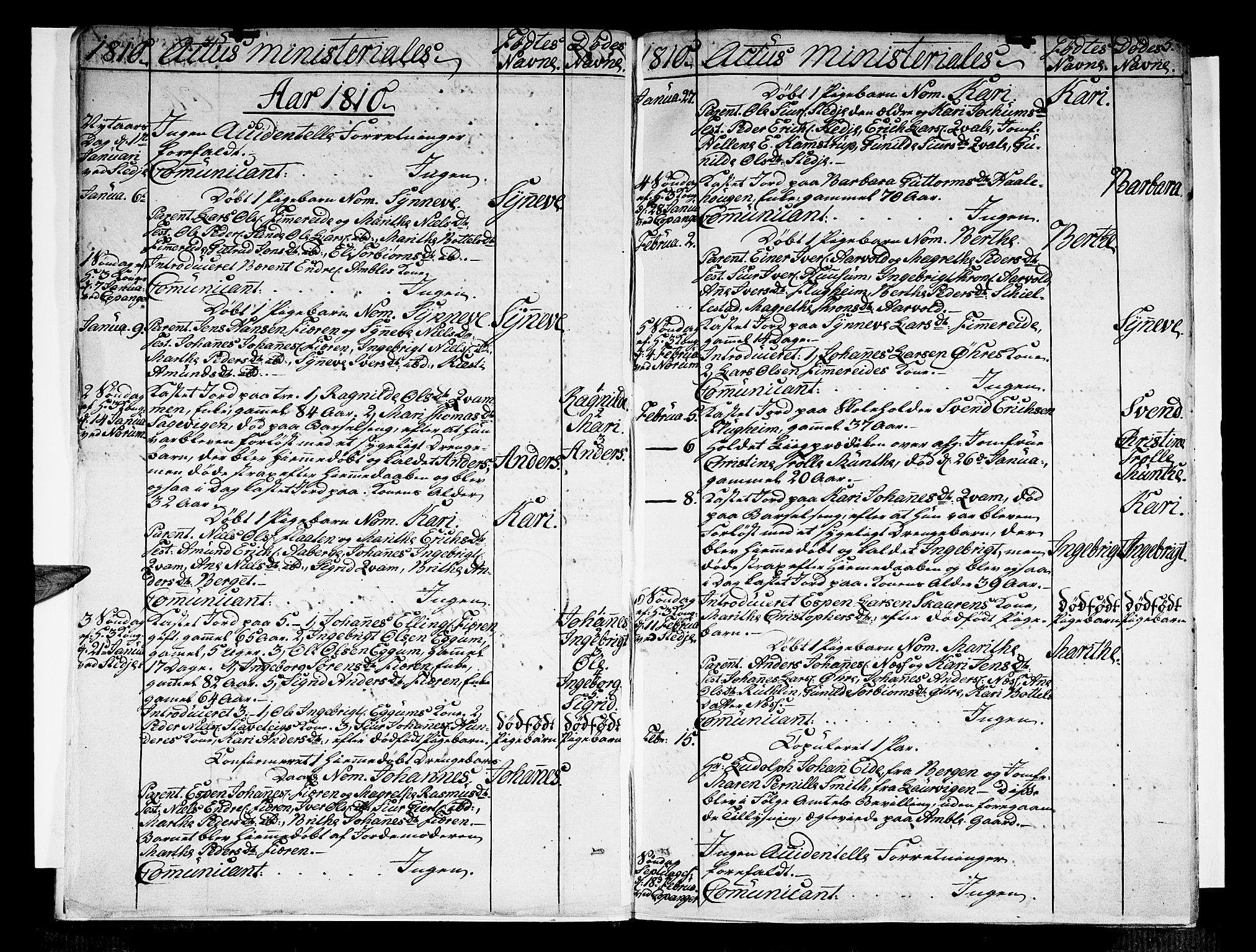 SAB, Sogndal Sokneprestembete, Ministerialbok nr. A 9, 1809-1821, s. 5