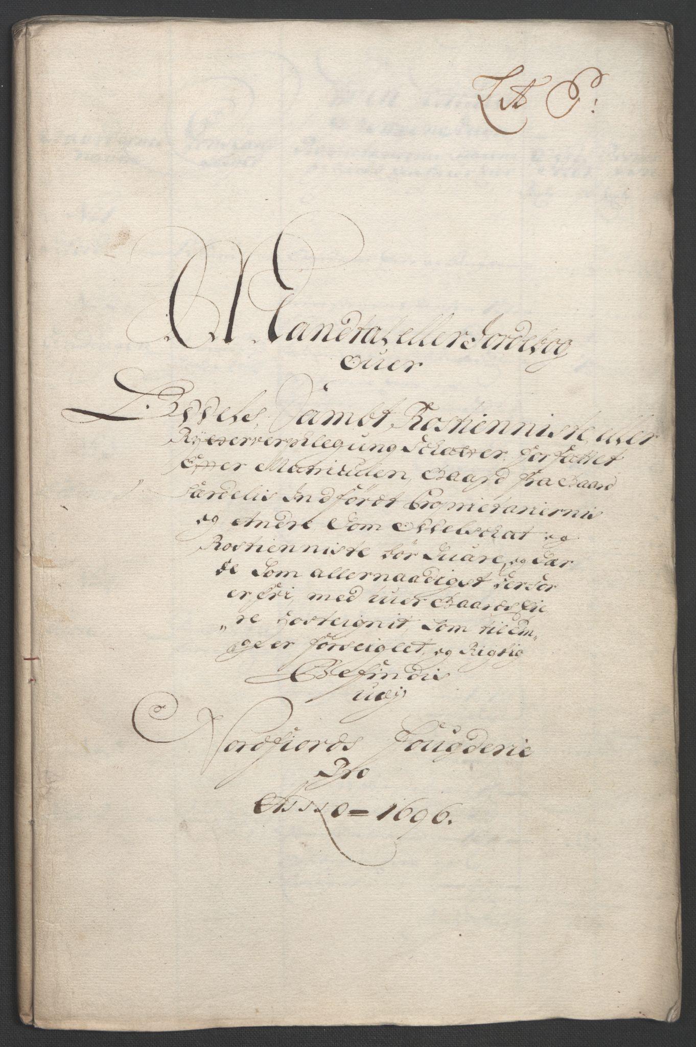 RA, Rentekammeret inntil 1814, Reviderte regnskaper, Fogderegnskap, R53/L3422: Fogderegnskap Sunn- og Nordfjord, 1695-1696, s. 307