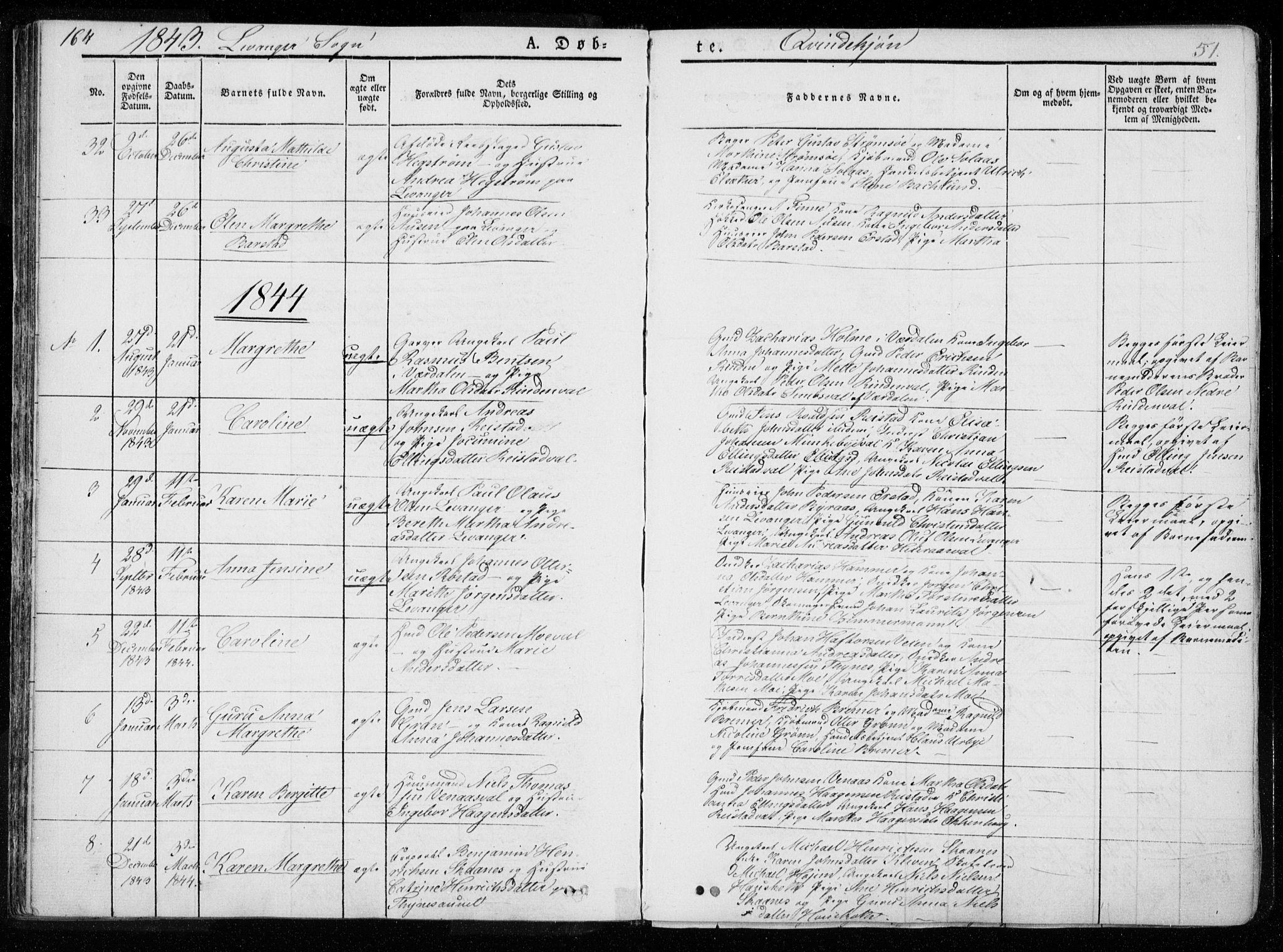 SAT, Ministerialprotokoller, klokkerbøker og fødselsregistre - Nord-Trøndelag, 720/L0183: Ministerialbok nr. 720A01, 1836-1855, s. 51