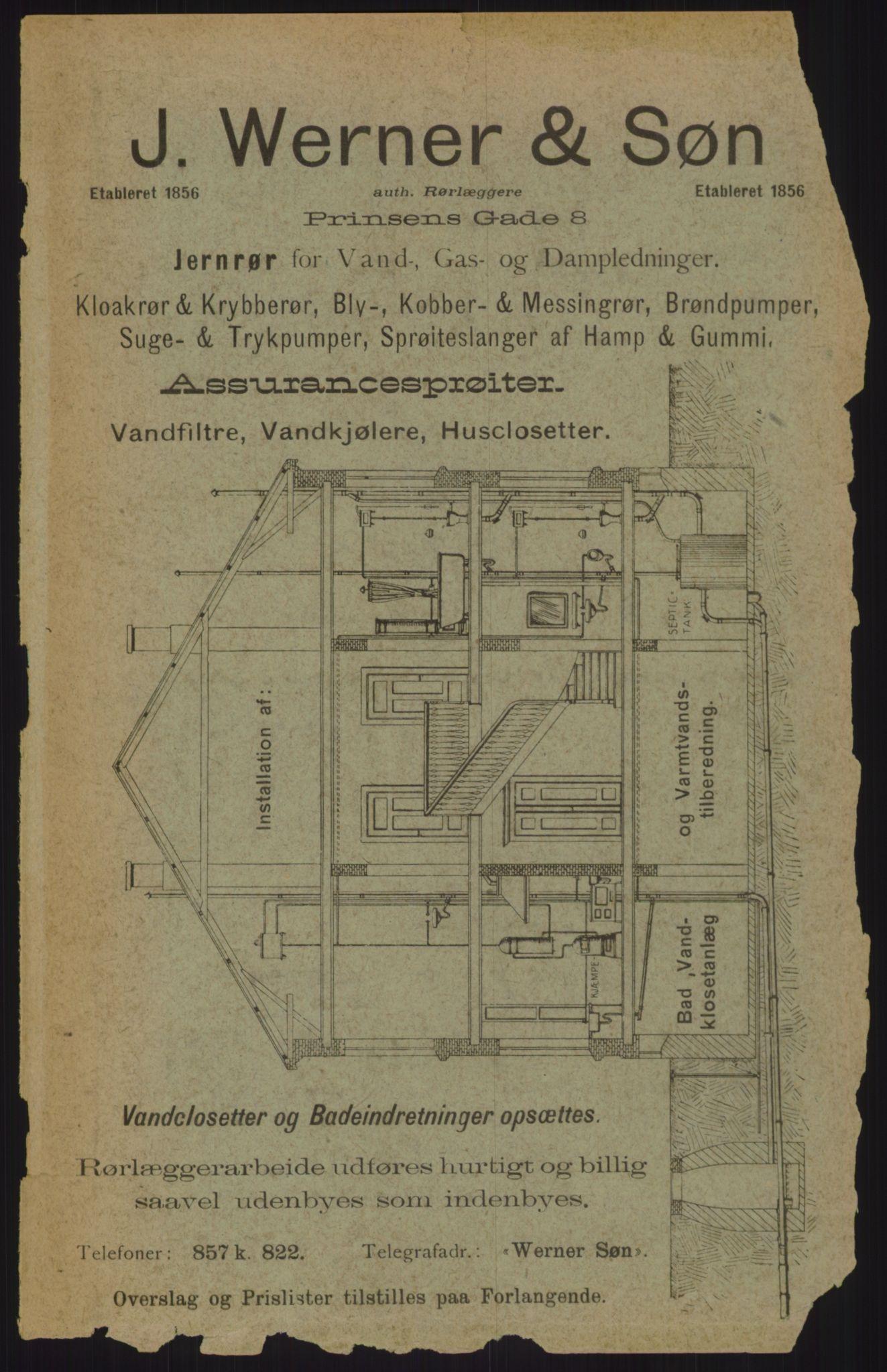 RA, Kristiania adressebok (publikasjon)*, 1911, s. upaginert