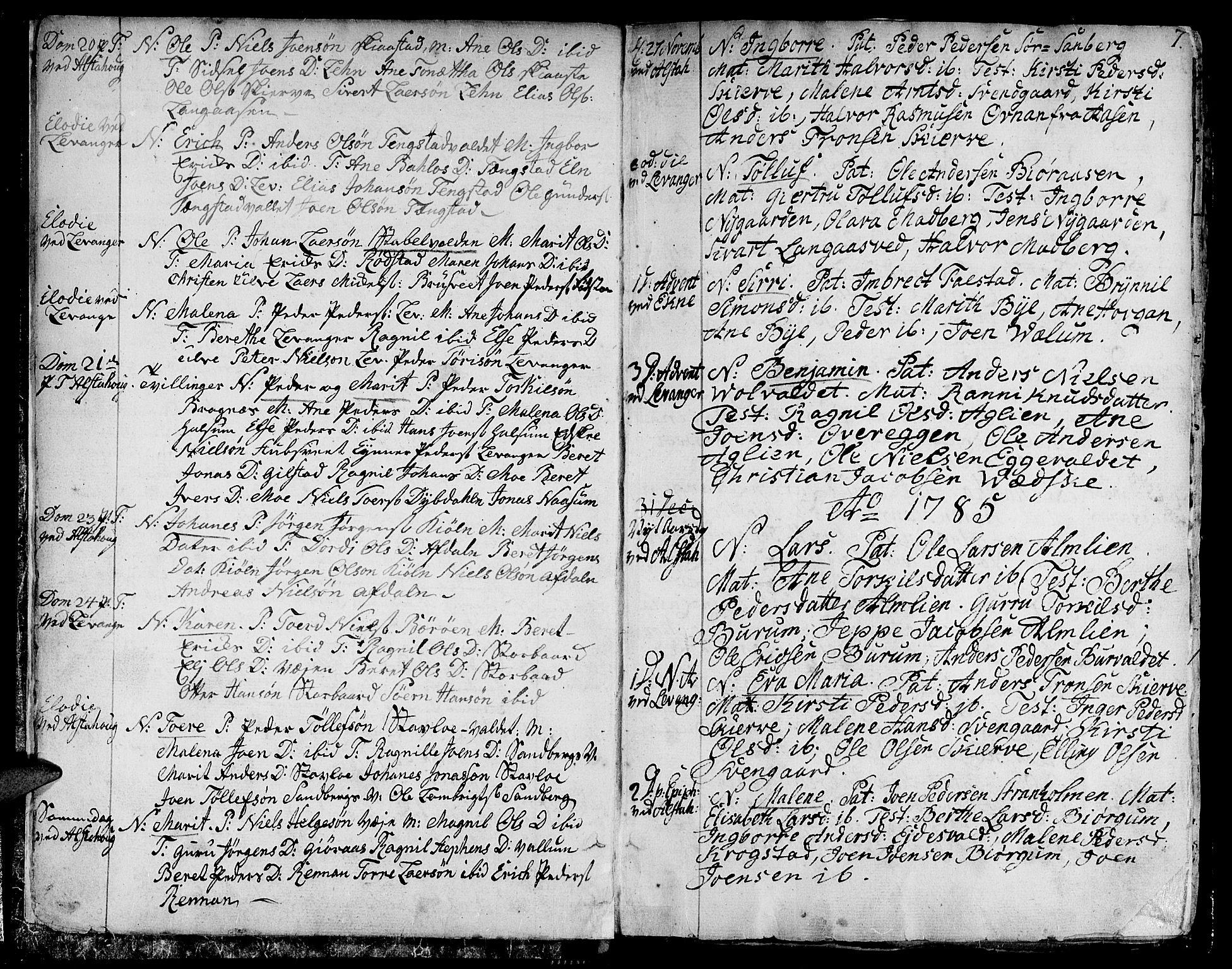 SAT, Ministerialprotokoller, klokkerbøker og fødselsregistre - Nord-Trøndelag, 717/L0142: Ministerialbok nr. 717A02 /1, 1783-1809, s. 7