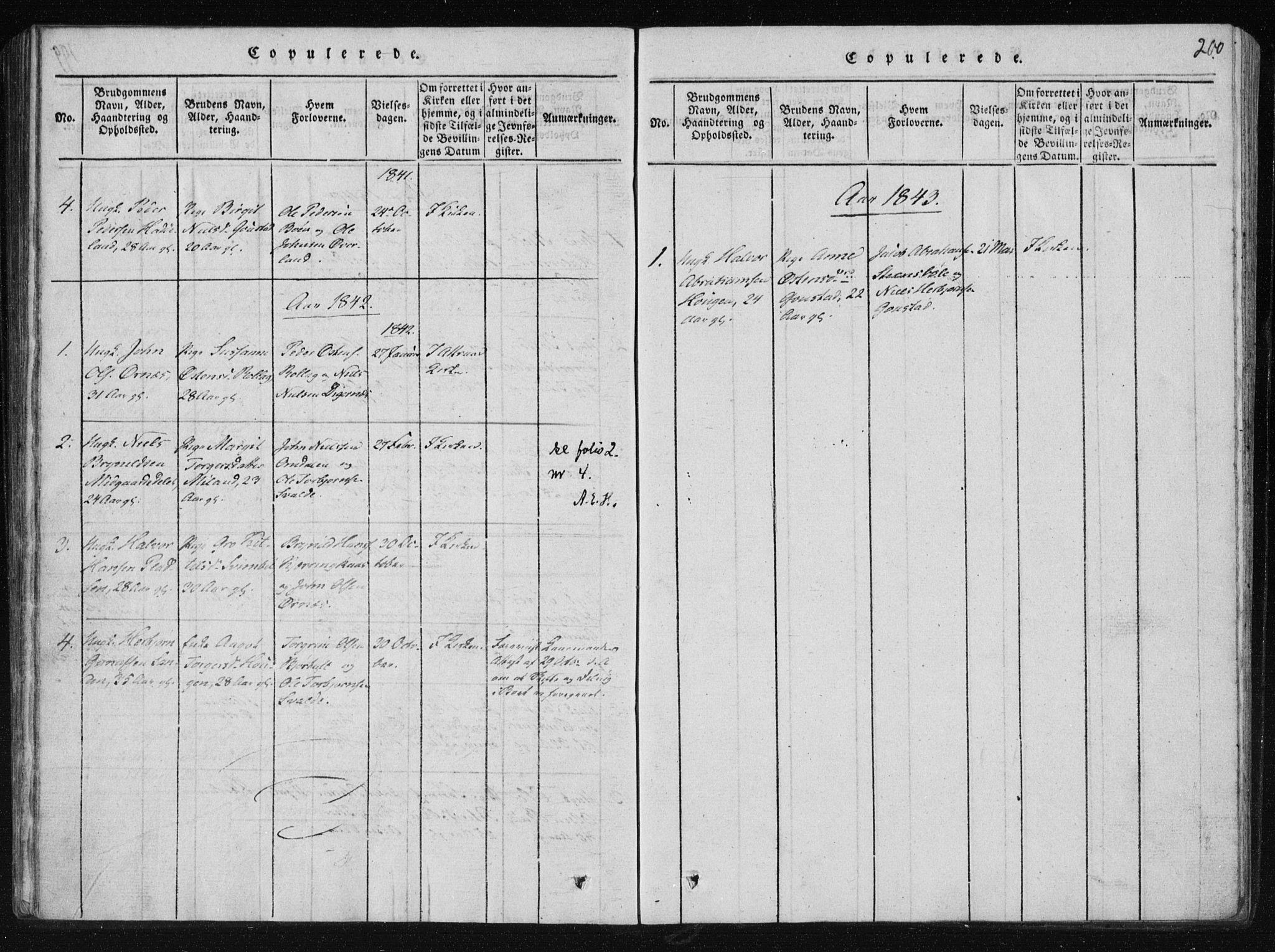 SAKO, Tinn kirkebøker, F/Fb/L0001: Ministerialbok nr. II 1, 1815-1843, s. 200