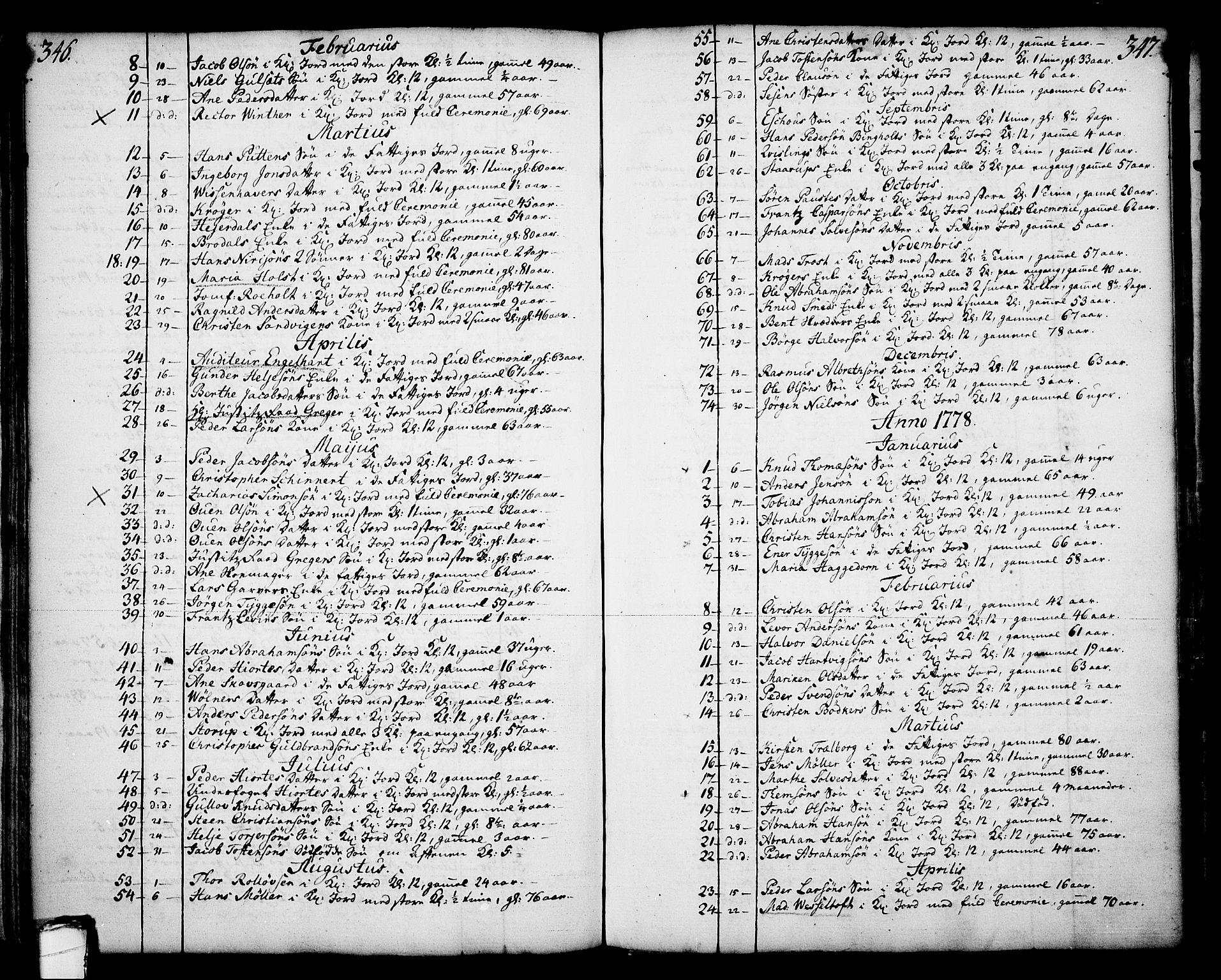 SAKO, Skien kirkebøker, F/Fa/L0003: Ministerialbok nr. 3, 1755-1791, s. 346-347