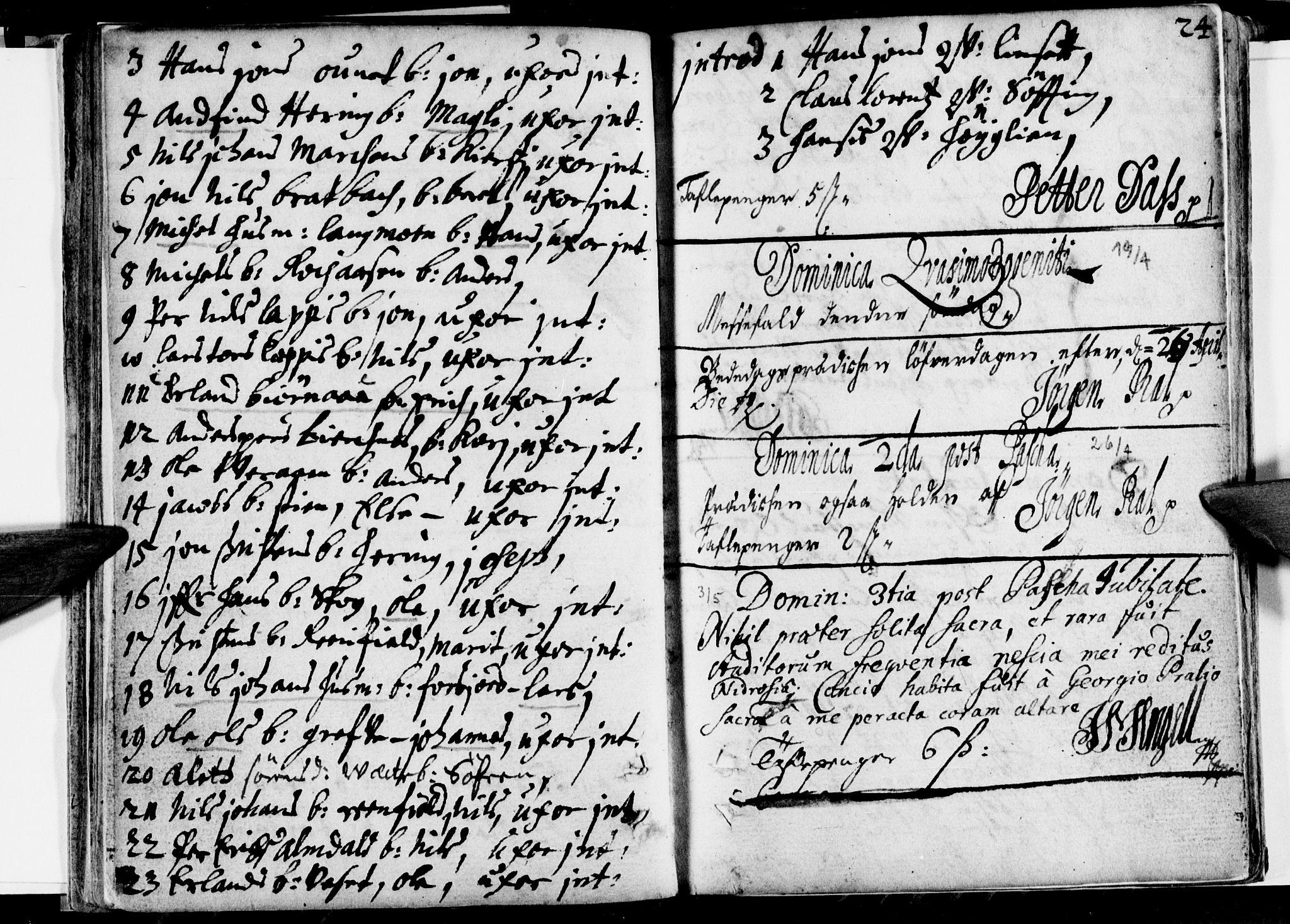 SAT, Ministerialprotokoller, klokkerbøker og fødselsregistre - Nordland, 820/L0280: Ministerialbok nr. 820A01, 1690-1693, s. 24