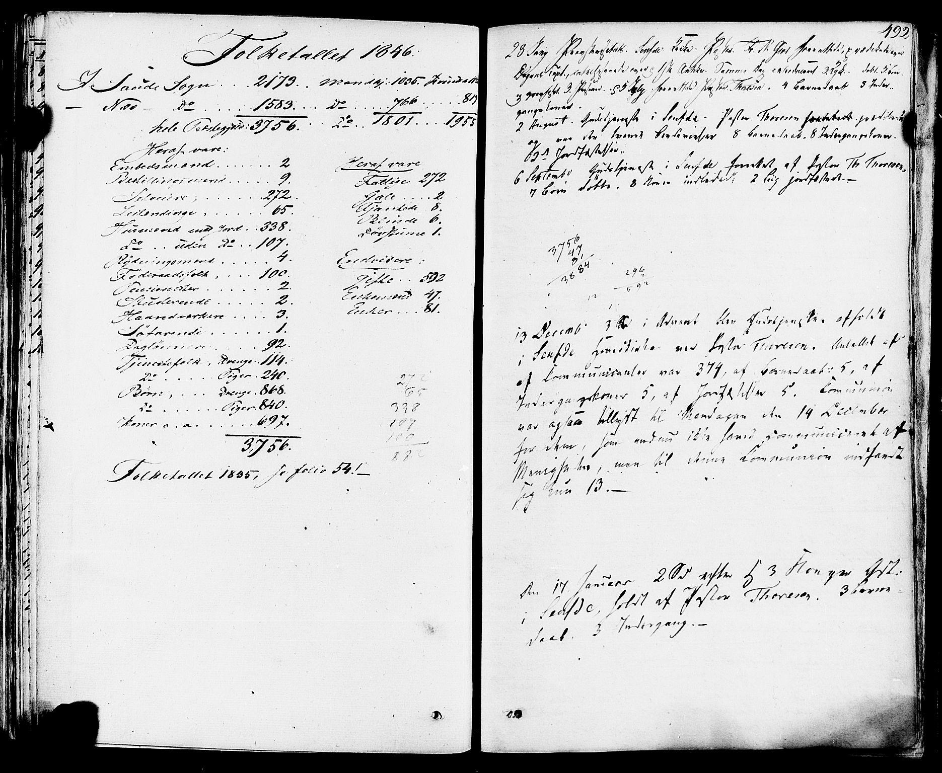 SAKO, Sauherad kirkebøker, F/Fa/L0006: Ministerialbok nr. I 6, 1827-1850, s. 492