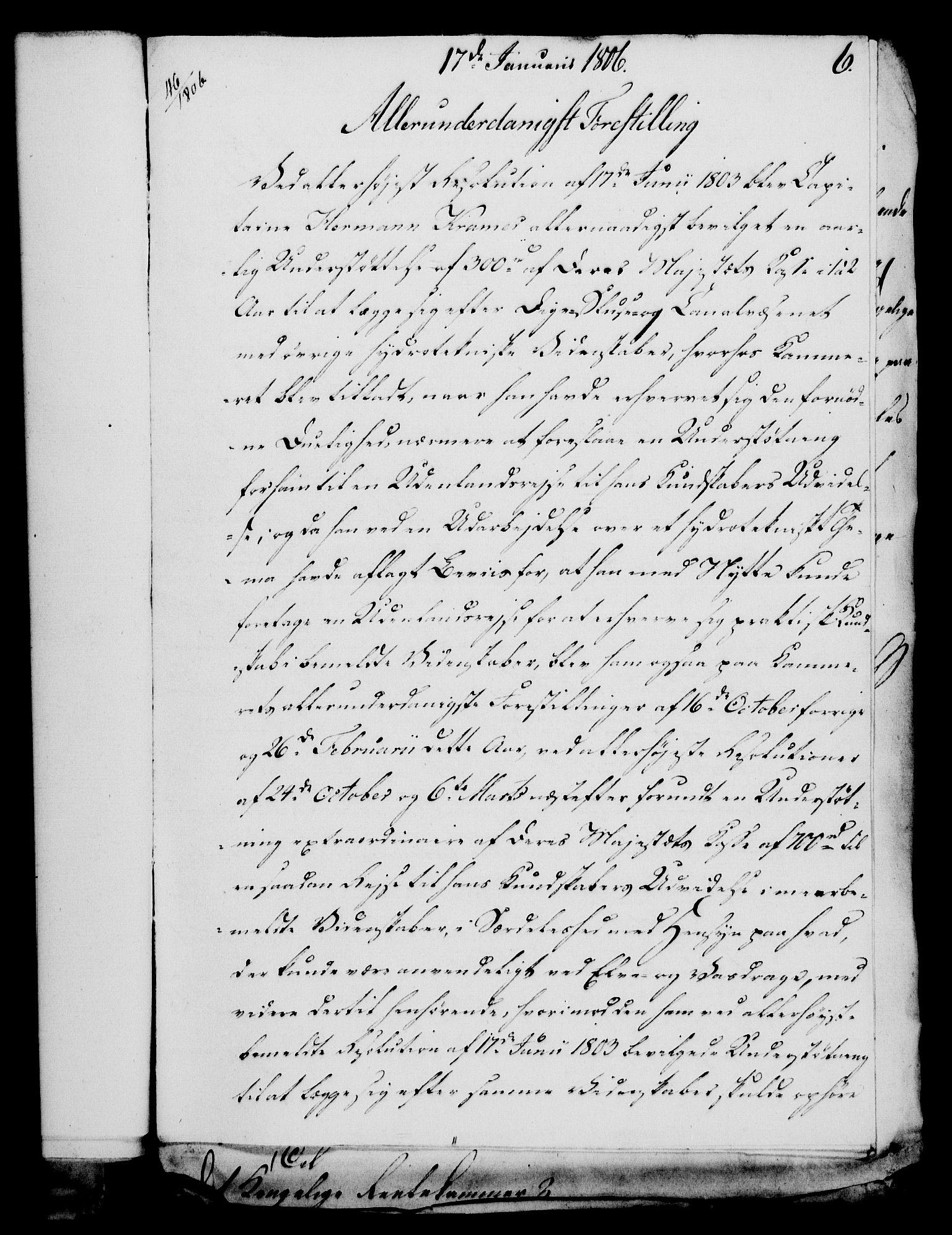 RA, Rentekammeret, Kammerkanselliet, G/Gf/Gfa/L0088: Norsk relasjons- og resolusjonsprotokoll (merket RK 52.88), 1806, s. 50