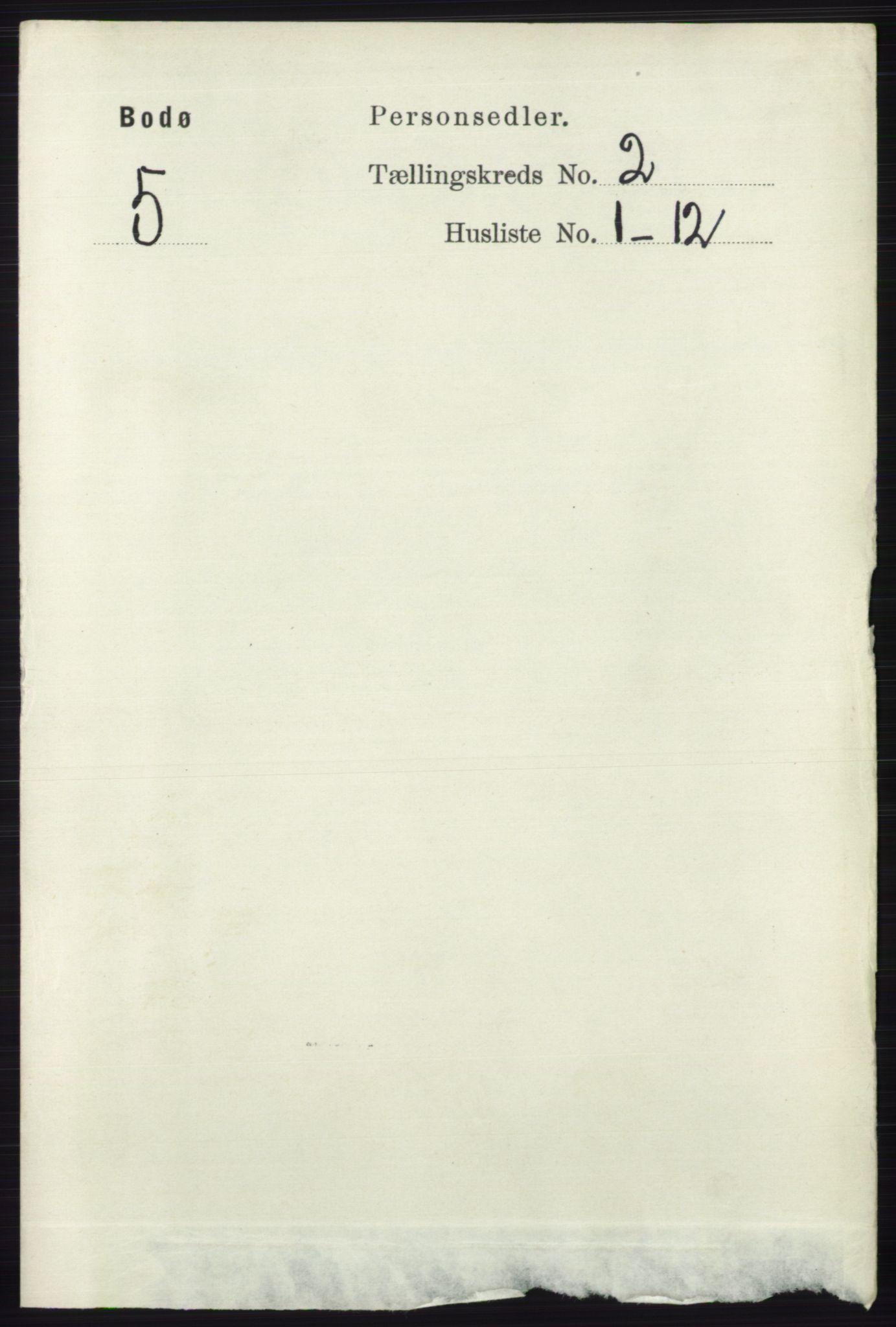 RA, Folketelling 1891 for 1804 Bodø kjøpstad, 1891, s. 988