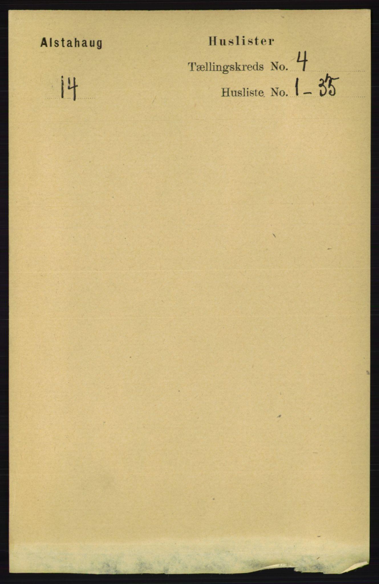 RA, Folketelling 1891 for 1820 Alstahaug herred, 1891, s. 1461