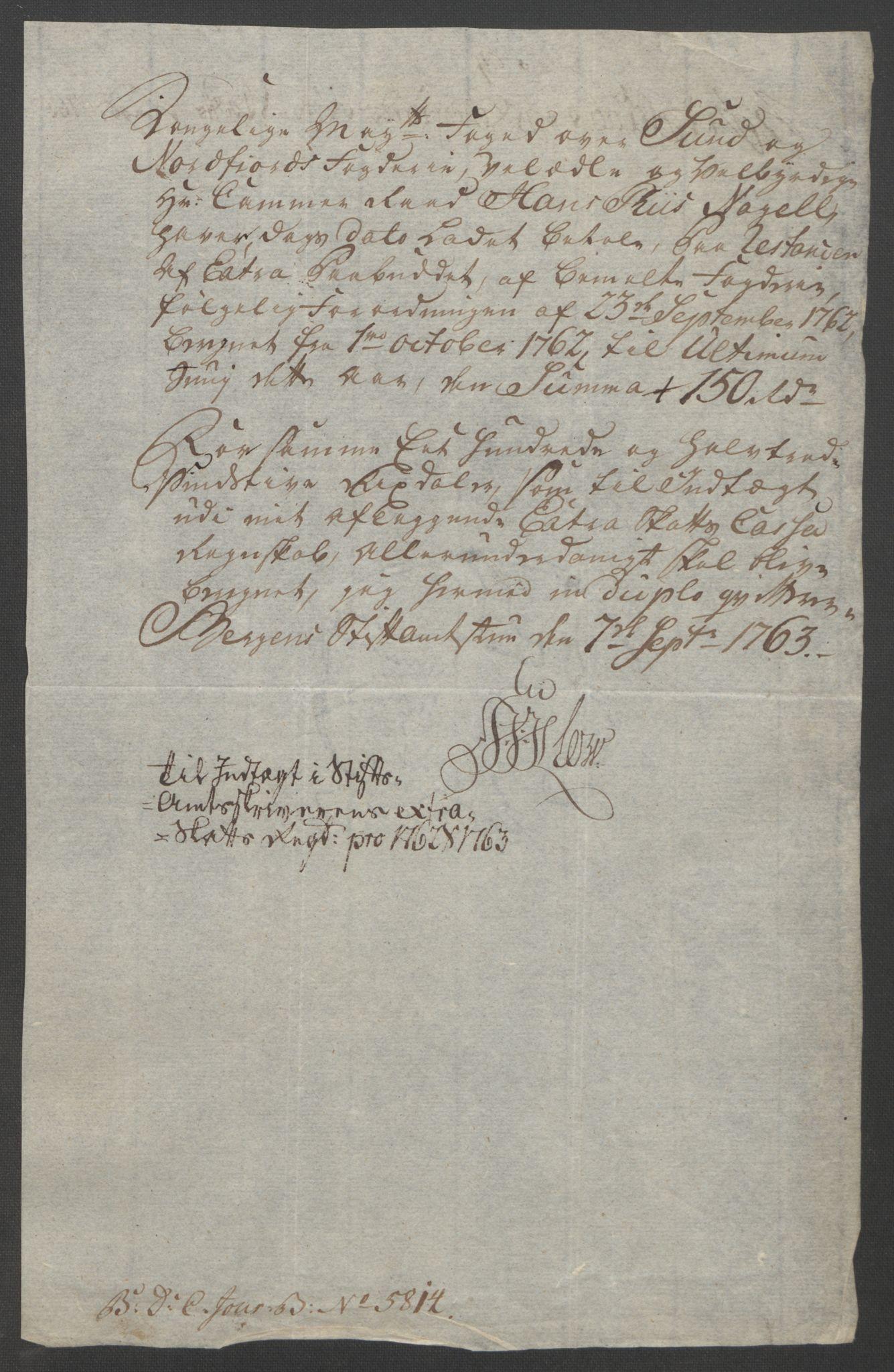 RA, Rentekammeret inntil 1814, Reviderte regnskaper, Fogderegnskap, R53/L3550: Ekstraskatten Sunn- og Nordfjord, 1762-1771, s. 56