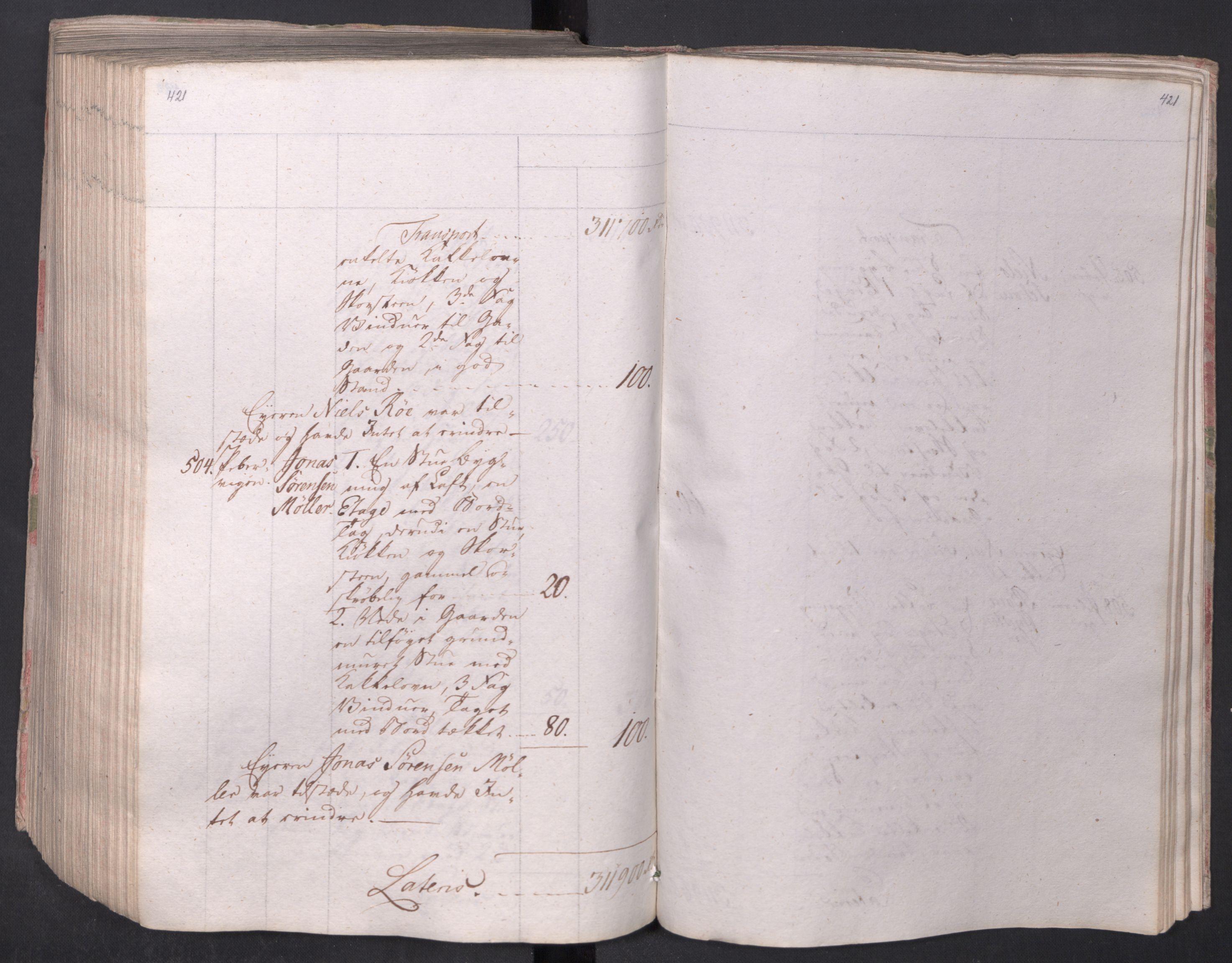 SAO, Kristiania stiftamt, I/Ia/L0015: Branntakster, 1797, s. 421