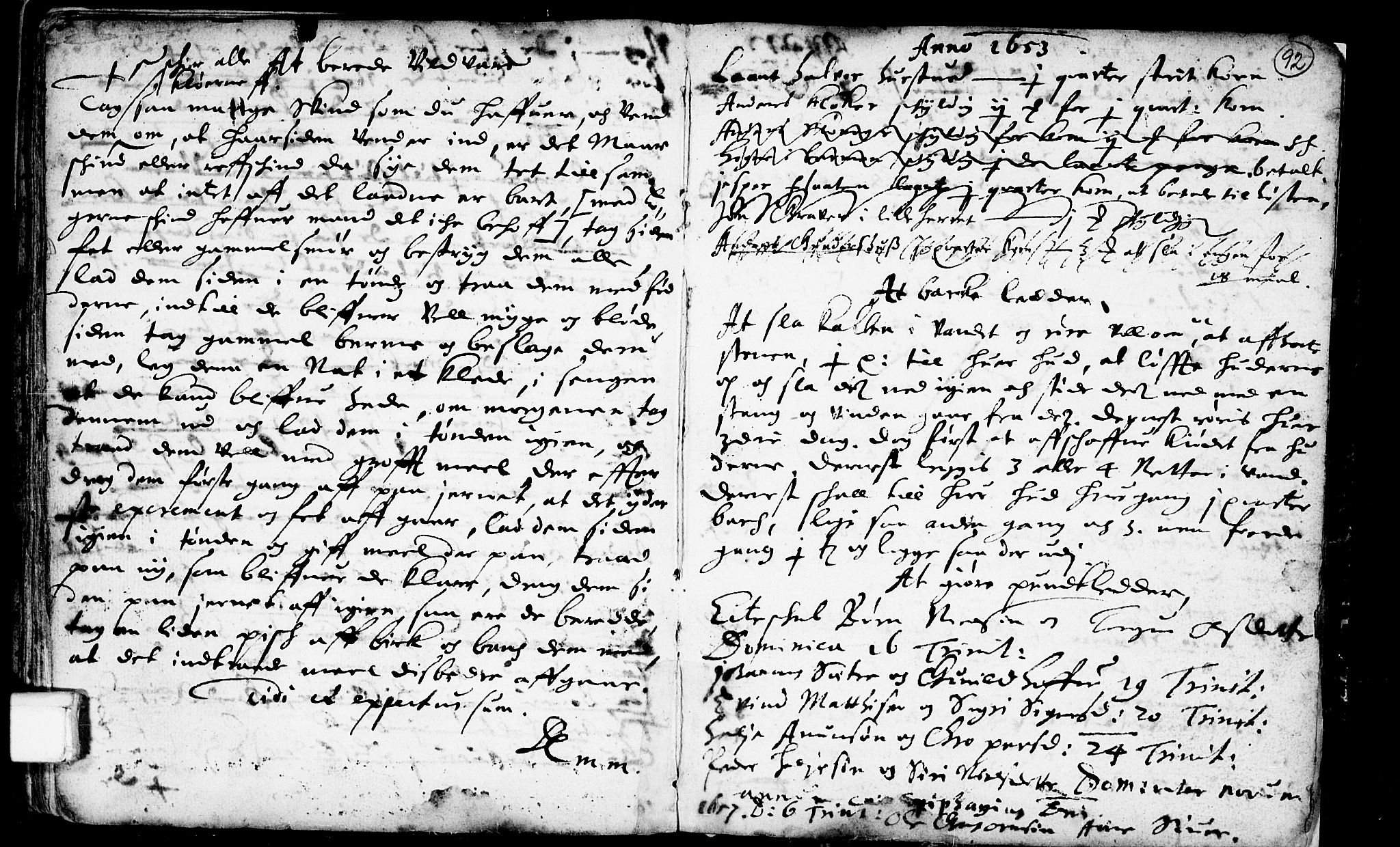 SAKO, Heddal kirkebøker, F/Fa/L0001: Ministerialbok nr. I 1, 1648-1699, s. 92