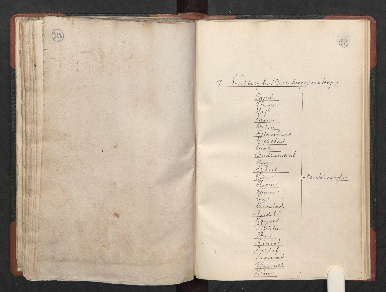 RA, Fogdenes og sorenskrivernes manntall 1664-1666, nr. 5: Fogderier (len og skipreider) i nåværende Buskerud fylke og Vestfold fylke, 1664, s. 262-263