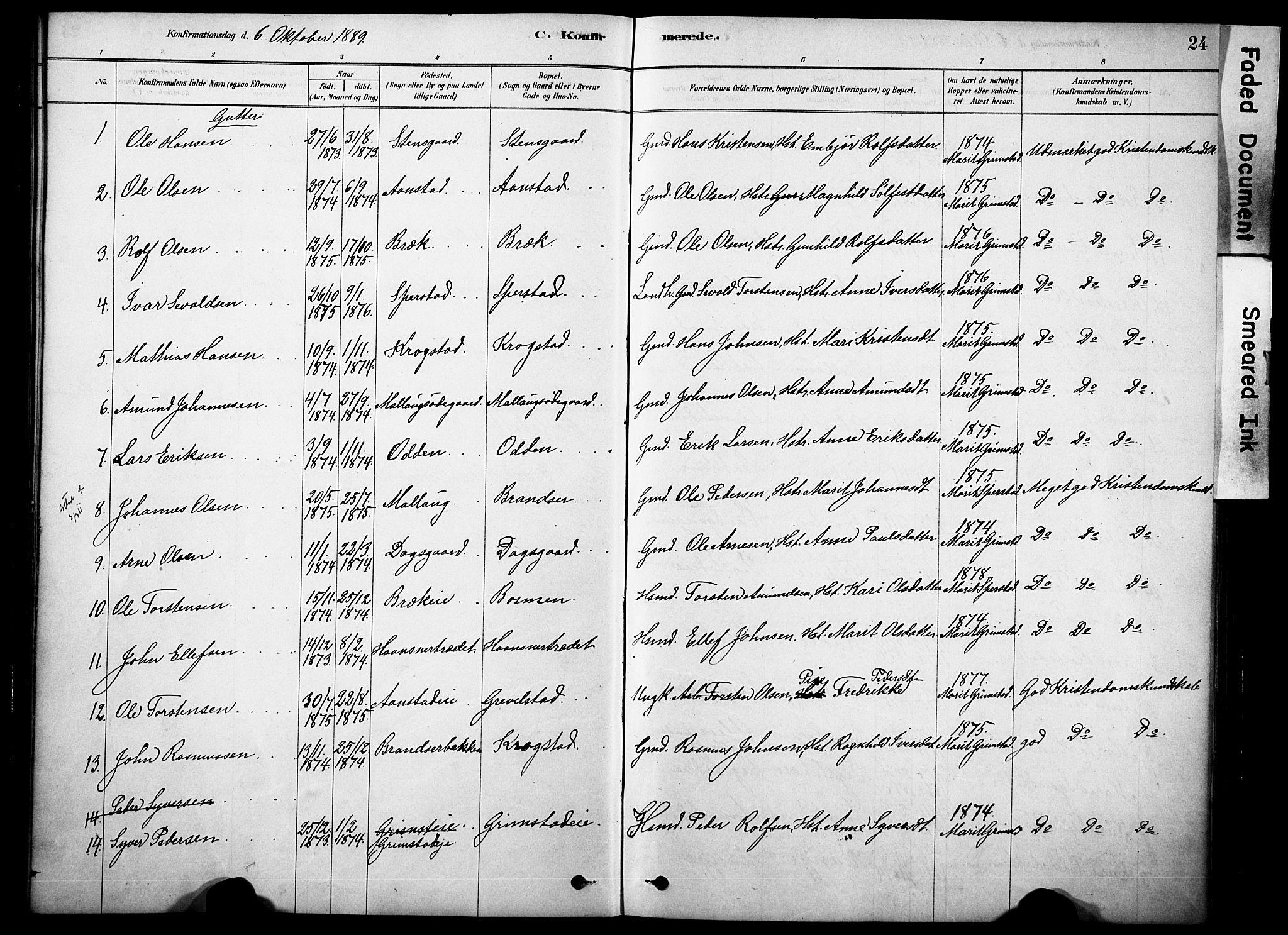 SAH, Skjåk prestekontor, Ministerialbok nr. 2, 1878-1907, s. 24