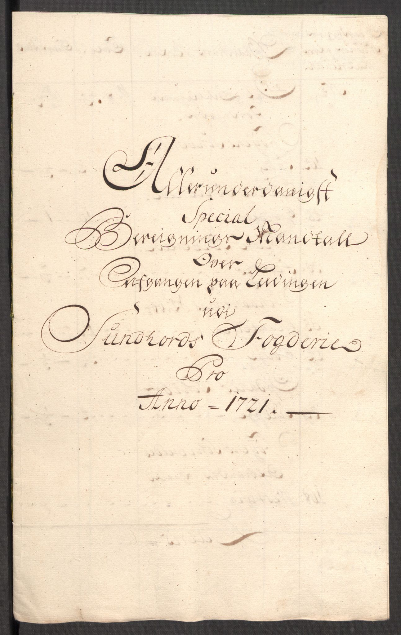 RA, Rentekammeret inntil 1814, Reviderte regnskaper, Fogderegnskap, R48/L3000: Fogderegnskap Sunnhordland og Hardanger, 1721, s. 291