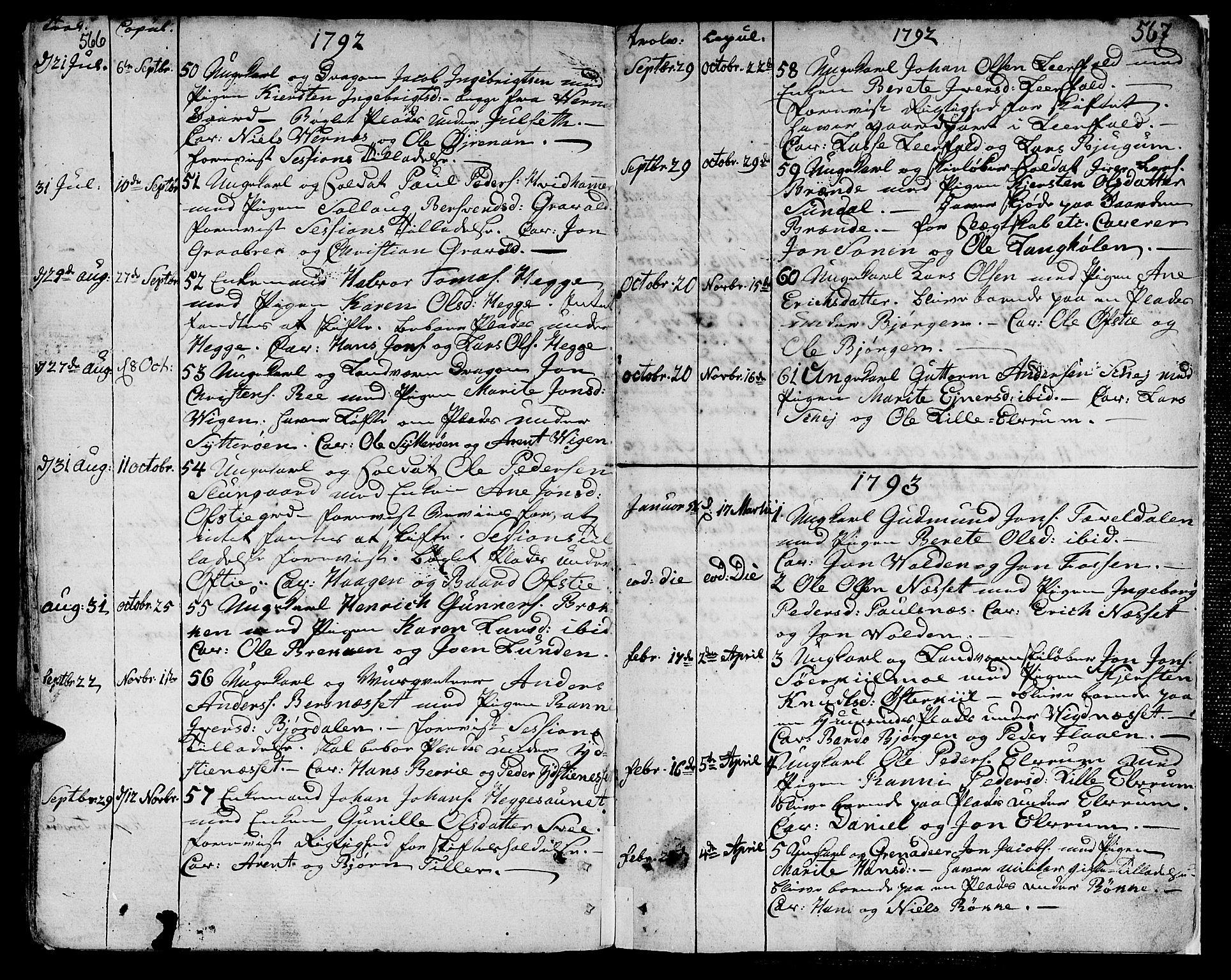 SAT, Ministerialprotokoller, klokkerbøker og fødselsregistre - Nord-Trøndelag, 709/L0059: Ministerialbok nr. 709A06, 1781-1797, s. 566-567