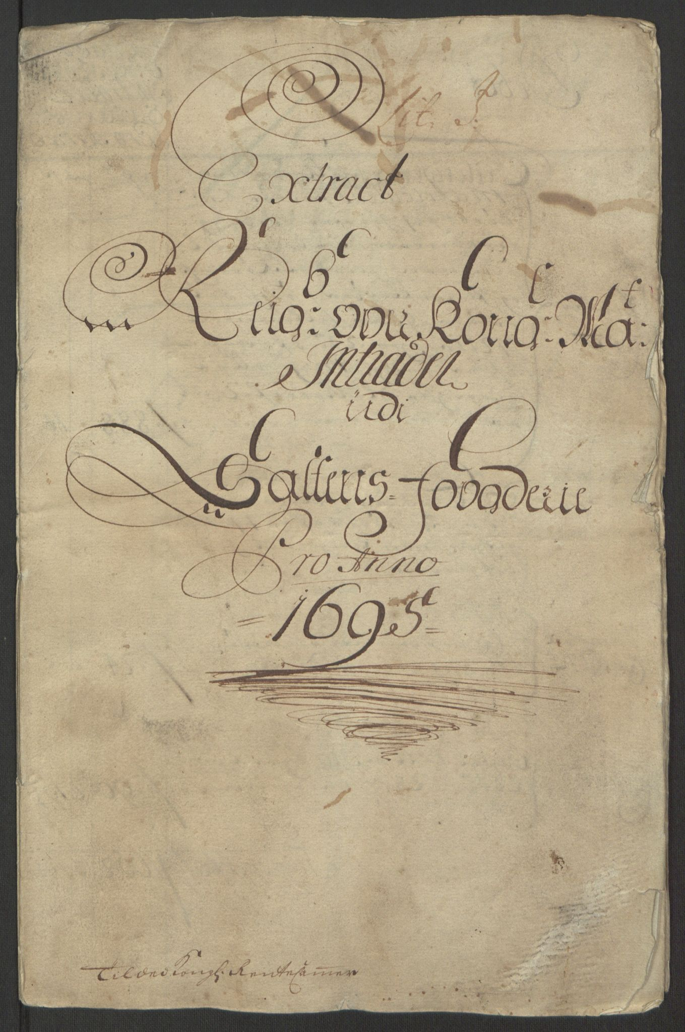 RA, Rentekammeret inntil 1814, Reviderte regnskaper, Fogderegnskap, R66/L4578: Fogderegnskap Salten, 1694-1696, s. 101