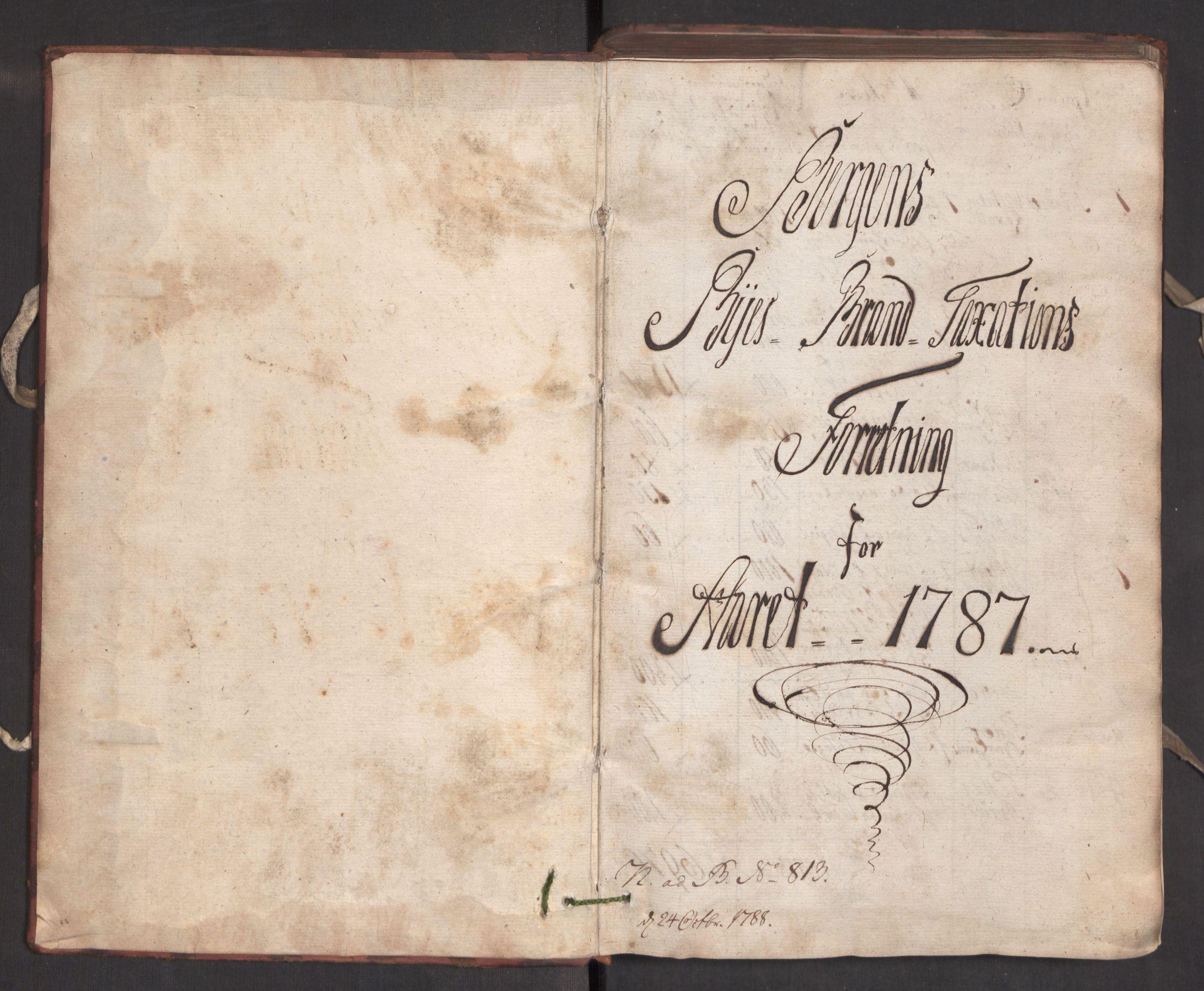 RA, Kommersekollegiet, Brannforsikringskontoret 1767-1814, F/Fa/L0005: Bergen, 1787