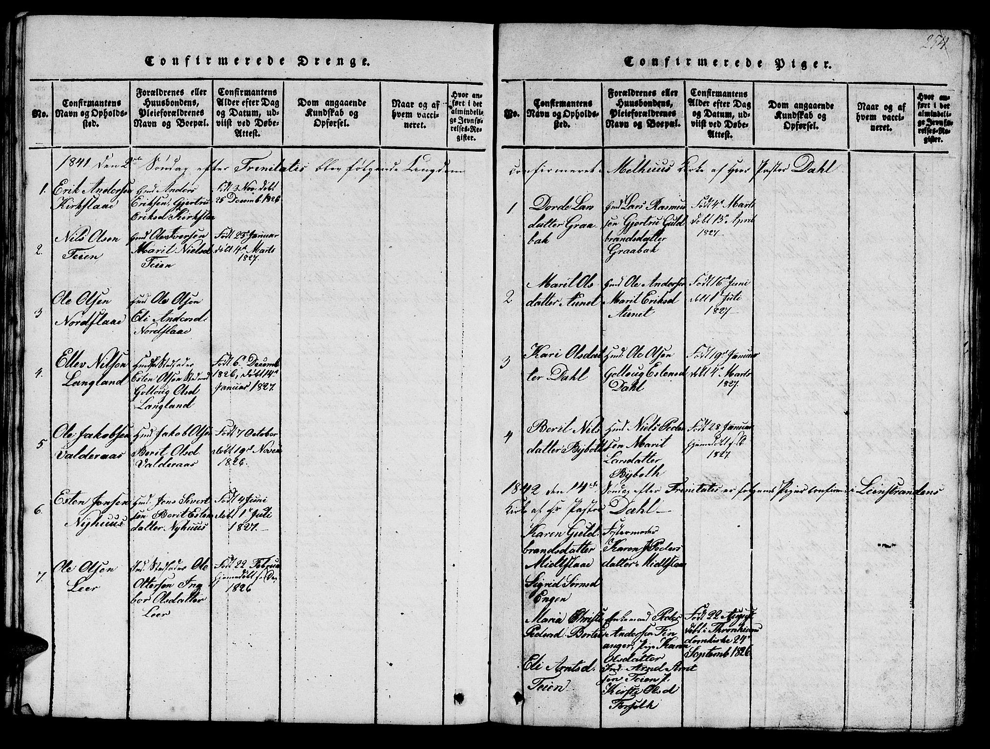SAT, Ministerialprotokoller, klokkerbøker og fødselsregistre - Sør-Trøndelag, 693/L1121: Klokkerbok nr. 693C02, 1816-1869, s. 254