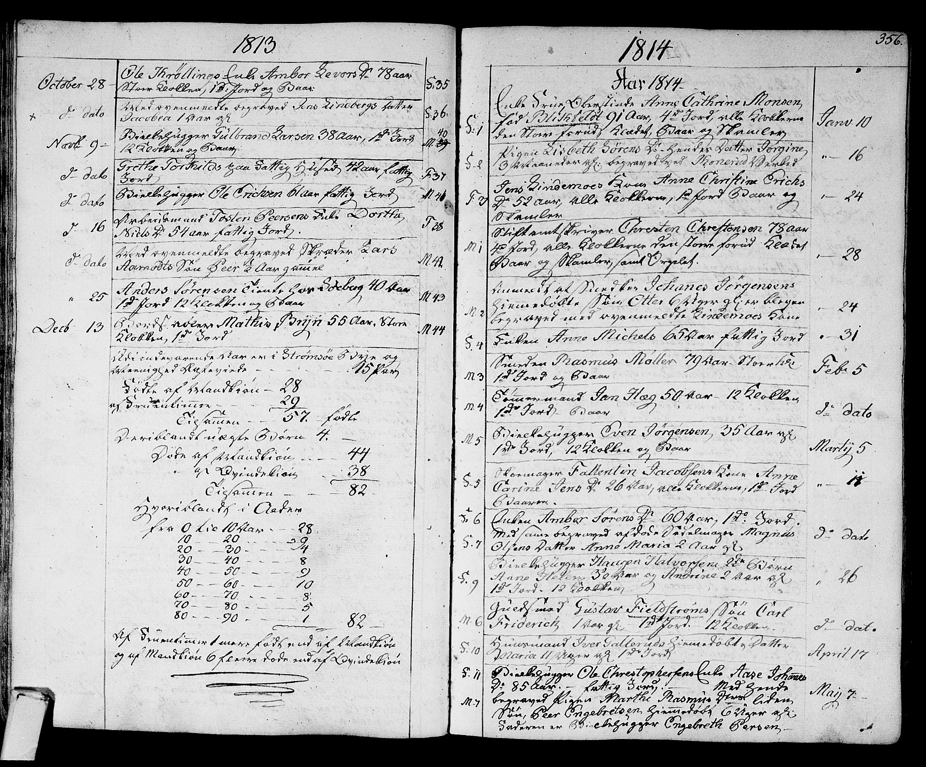 SAKO, Strømsø kirkebøker, F/Fa/L0010: Ministerialbok nr. I 10, 1792-1822, s. 356