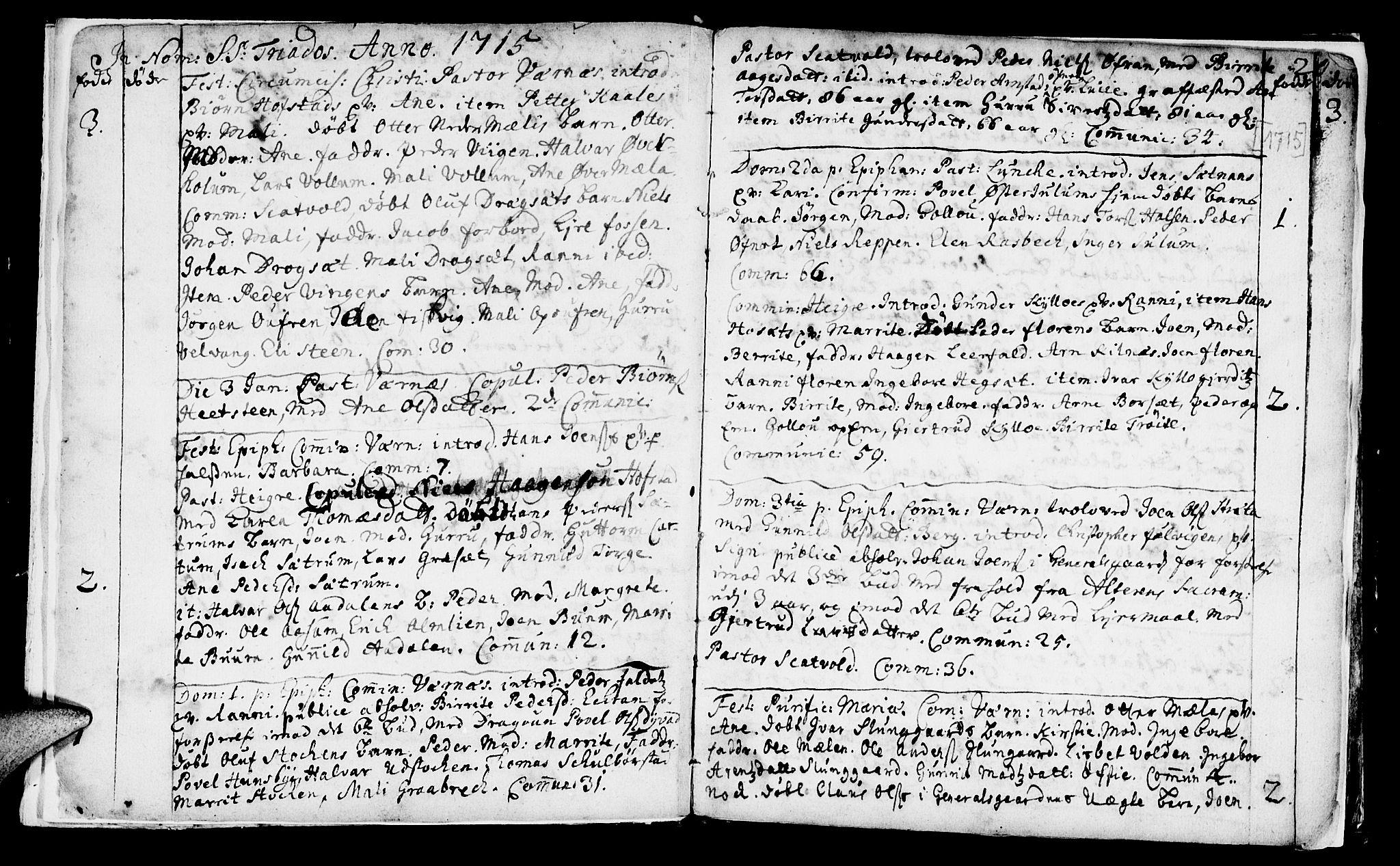 SAT, Ministerialprotokoller, klokkerbøker og fødselsregistre - Nord-Trøndelag, 709/L0054: Ministerialbok nr. 709A02, 1714-1738, s. 20