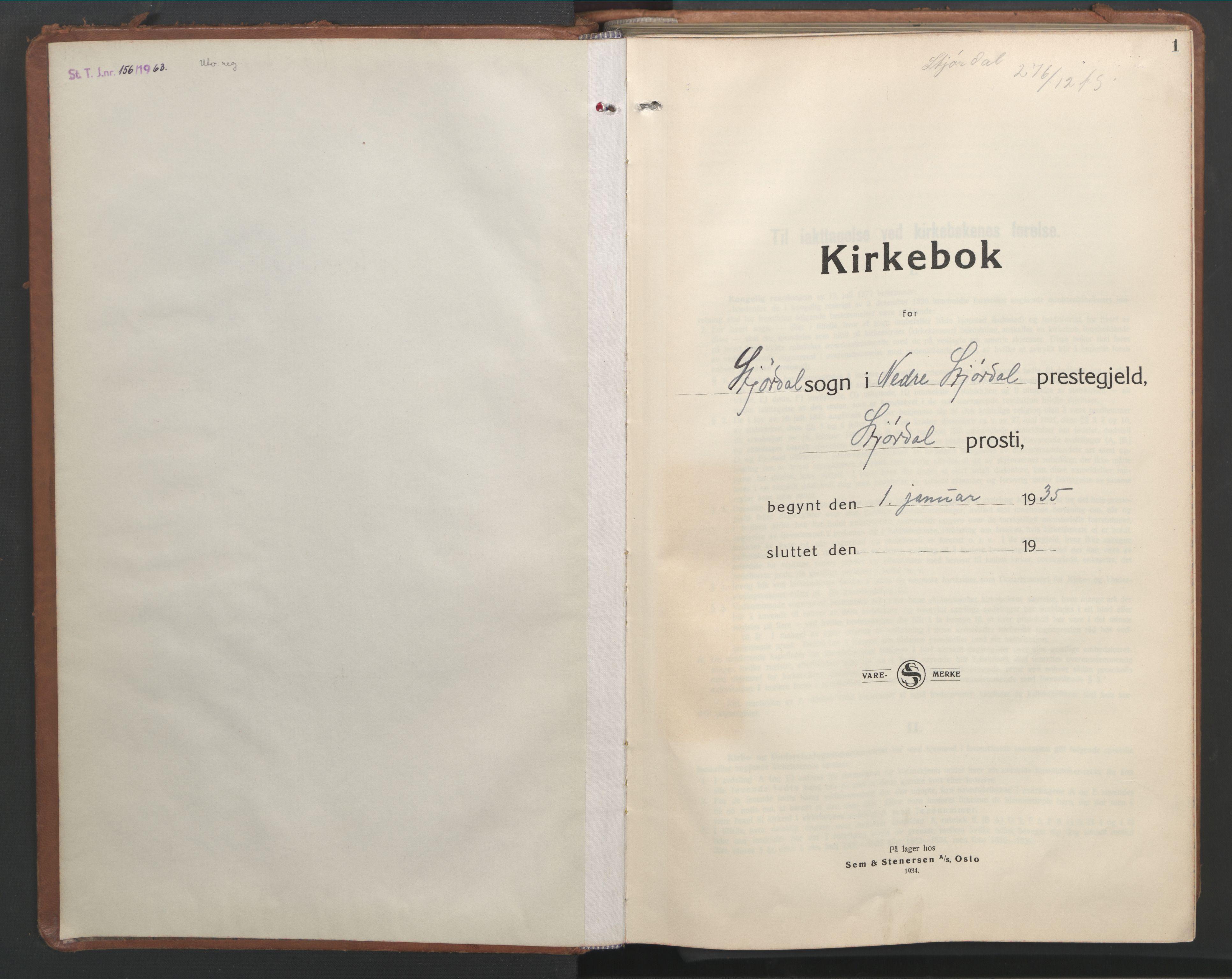 SAT, Ministerialprotokoller, klokkerbøker og fødselsregistre - Nord-Trøndelag, 709/L0089: Klokkerbok nr. 709C03, 1935-1948, s. 1