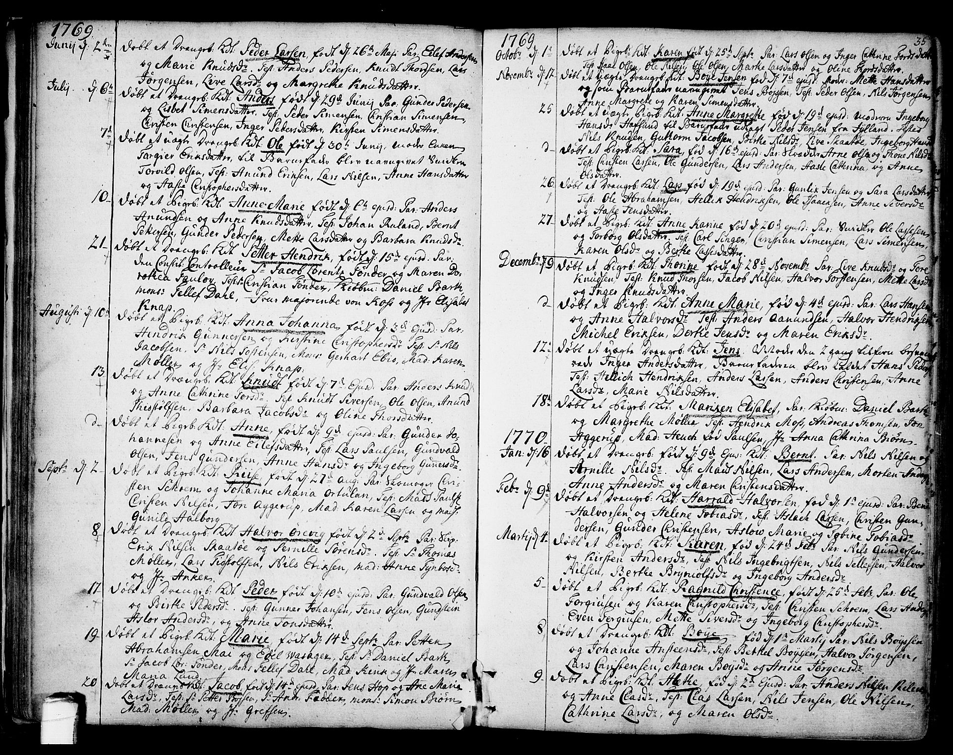 SAKO, Kragerø kirkebøker, F/Fa/L0002: Ministerialbok nr. 2, 1767-1802, s. 35