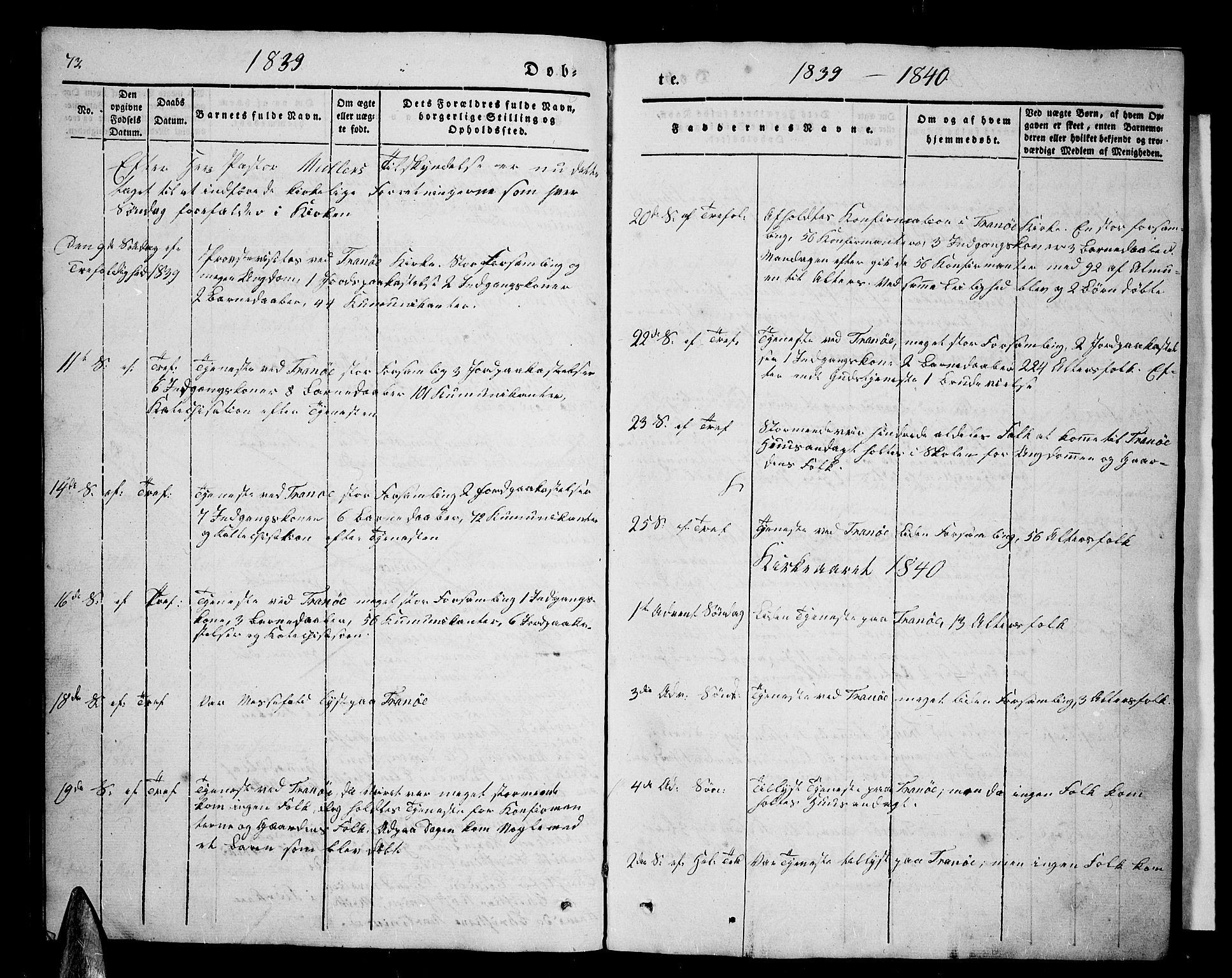 SATØ, Tranøy sokneprestkontor, I/Ia/Iab/L0001klokker: Klokkerbok nr. 1, 1835-1853, s. 73
