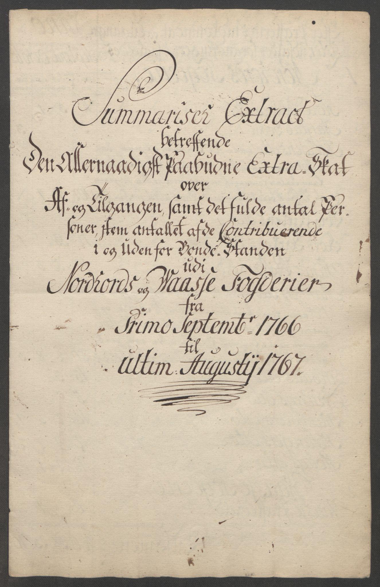 RA, Rentekammeret inntil 1814, Reviderte regnskaper, Fogderegnskap, R51/L3303: Ekstraskatten Nordhordland og Voss, 1762-1772, s. 149