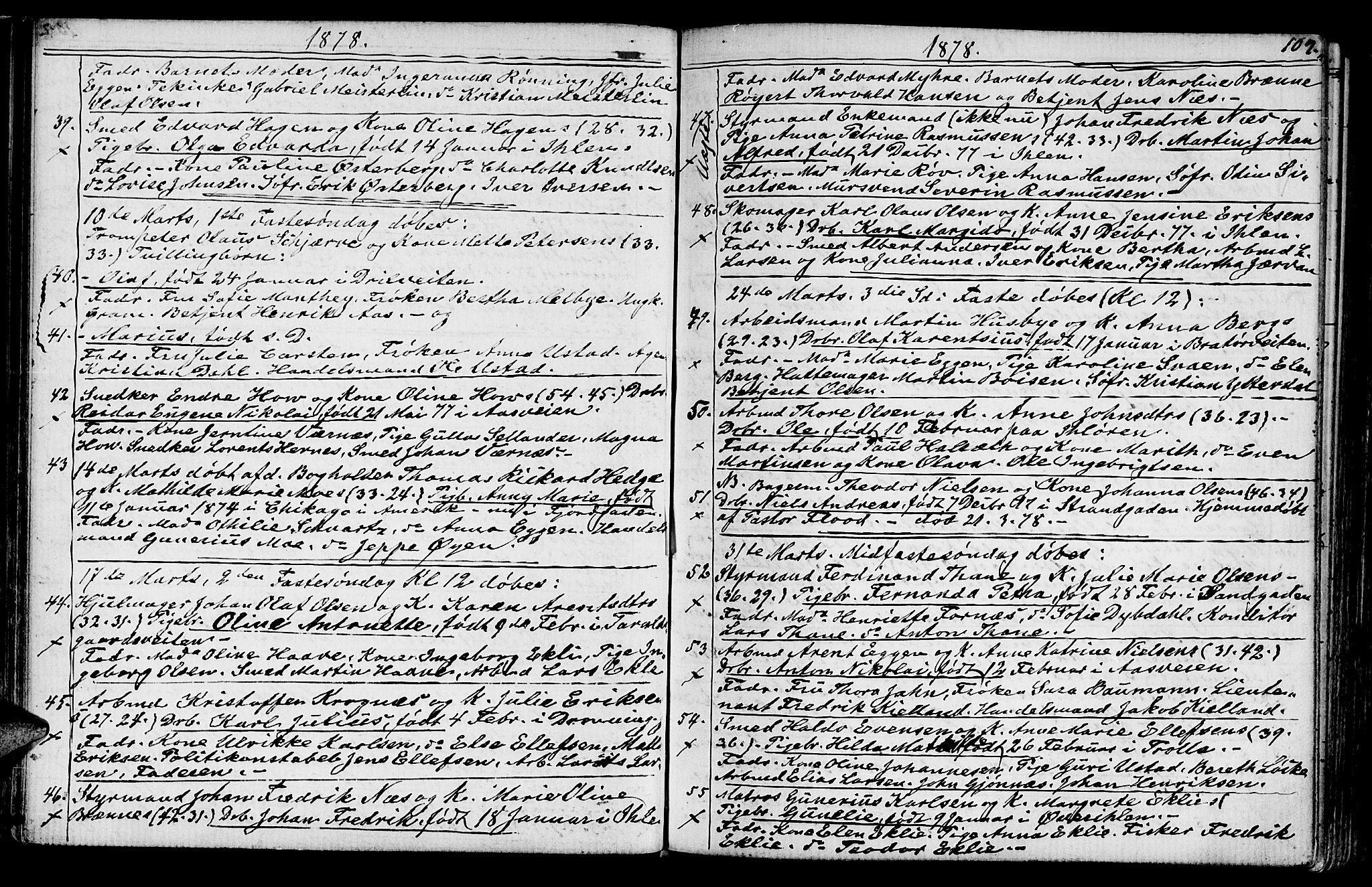 SAT, Ministerialprotokoller, klokkerbøker og fødselsregistre - Sør-Trøndelag, 602/L0142: Klokkerbok nr. 602C10, 1872-1894, s. 109