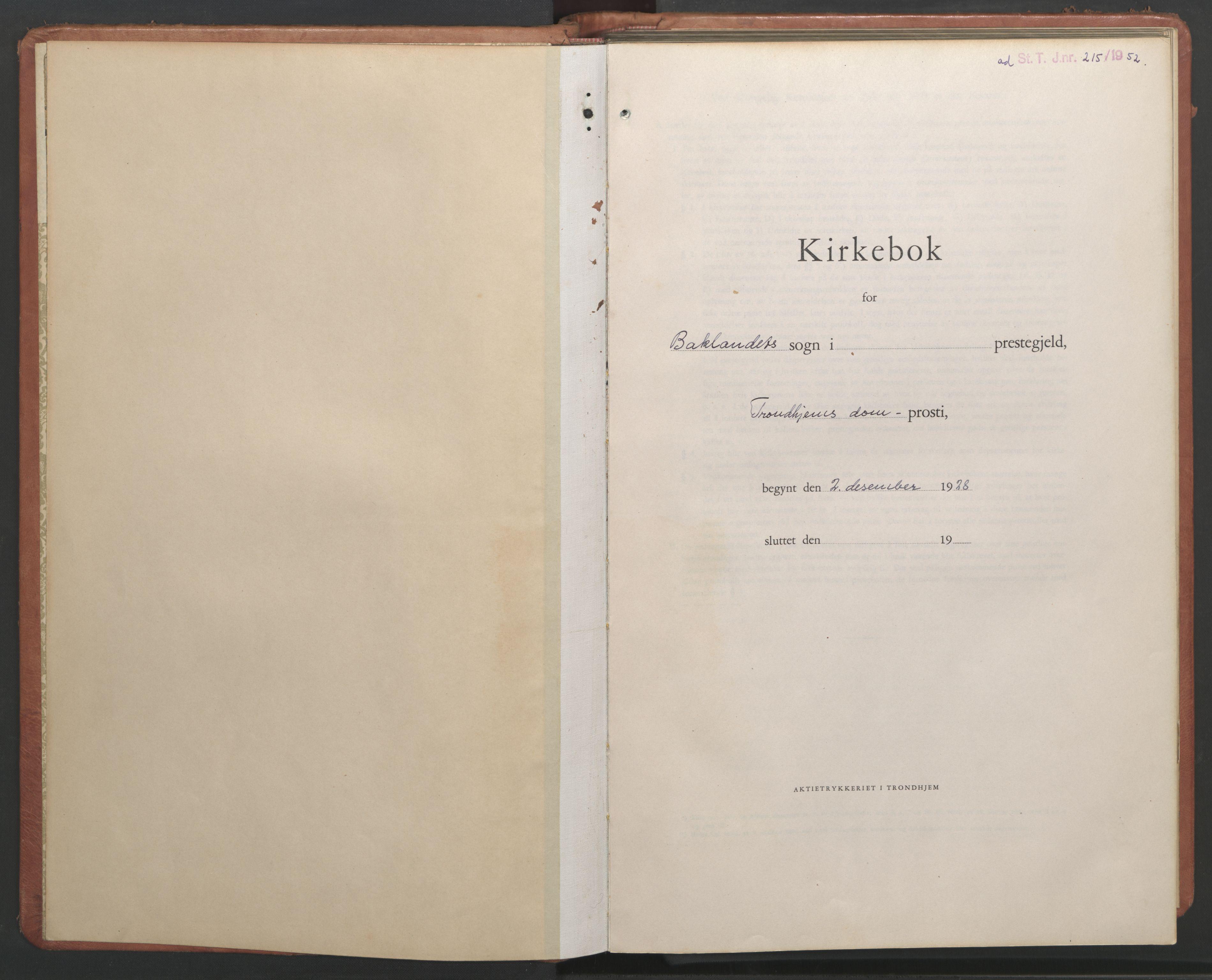SAT, Ministerialprotokoller, klokkerbøker og fødselsregistre - Sør-Trøndelag, 604/L0228: Klokkerbok nr. 604C11, 1928-1950