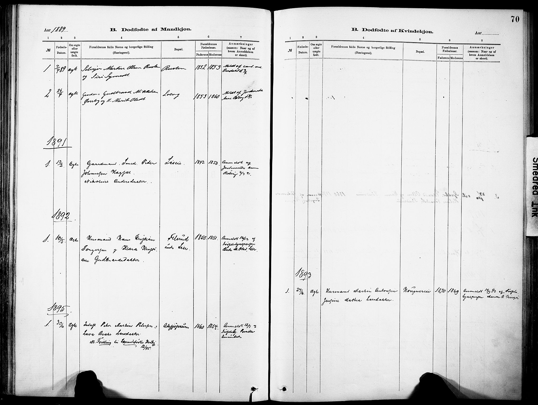 SAH, Nordre Land prestekontor, Ministerialbok nr. 5, 1882-1903, s. 70