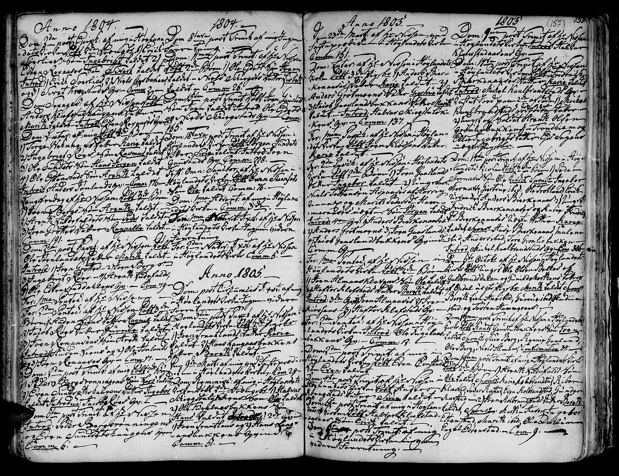 SAT, Ministerialprotokoller, klokkerbøker og fødselsregistre - Sør-Trøndelag, 691/L1064: Ministerialbok nr. 691A02 /4, 1768-1815, s. 157