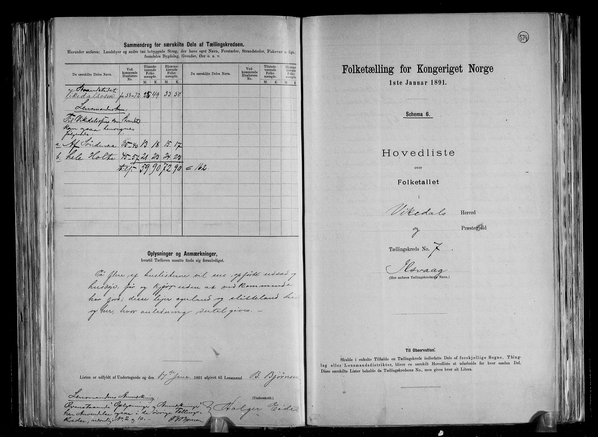RA, Folketelling 1891 for 1157 Vikedal herred, 1891, s. 17