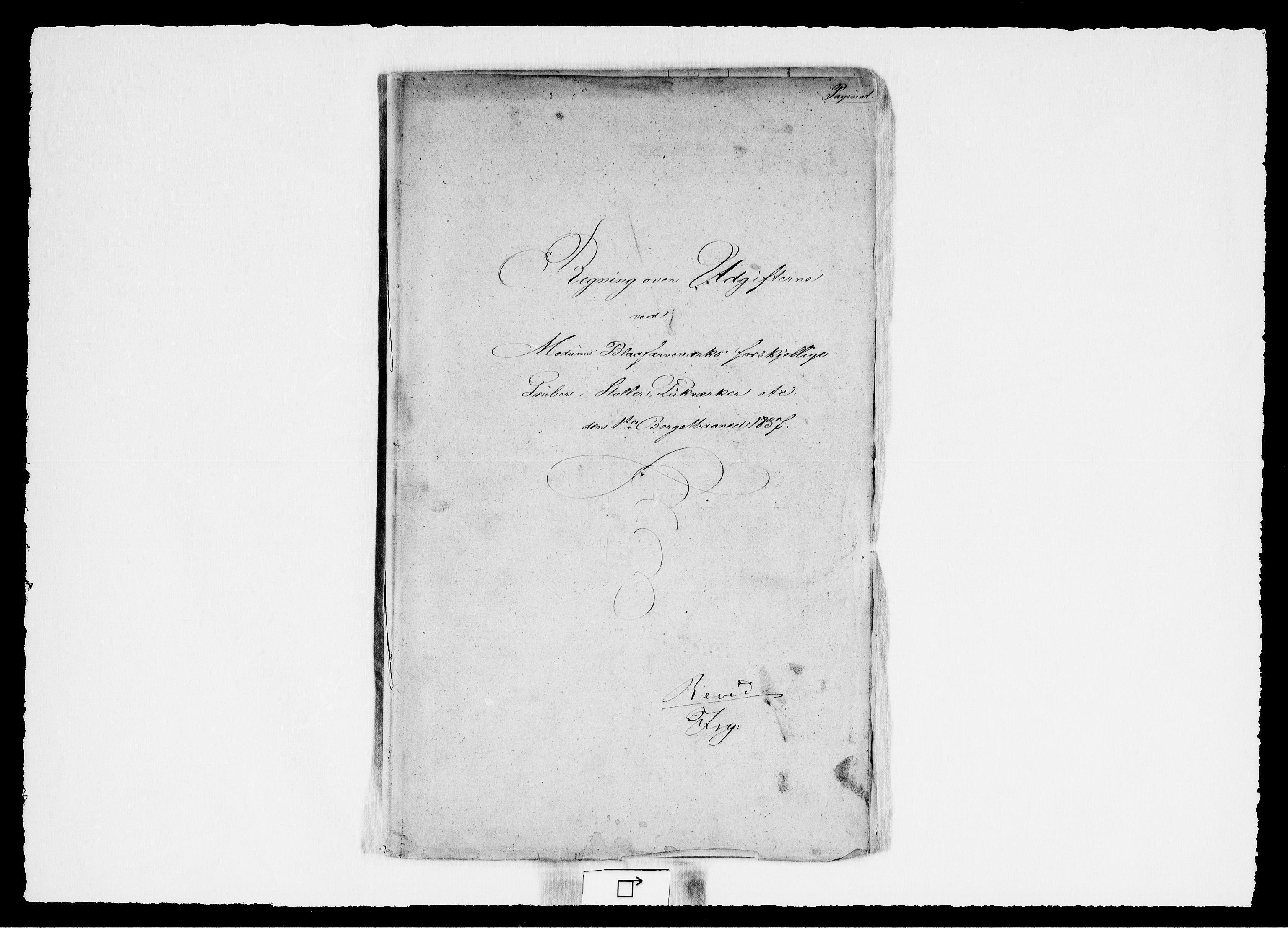 RA, Modums Blaafarveværk, G/Gd/Gdd/L0263, 1837, s. 2