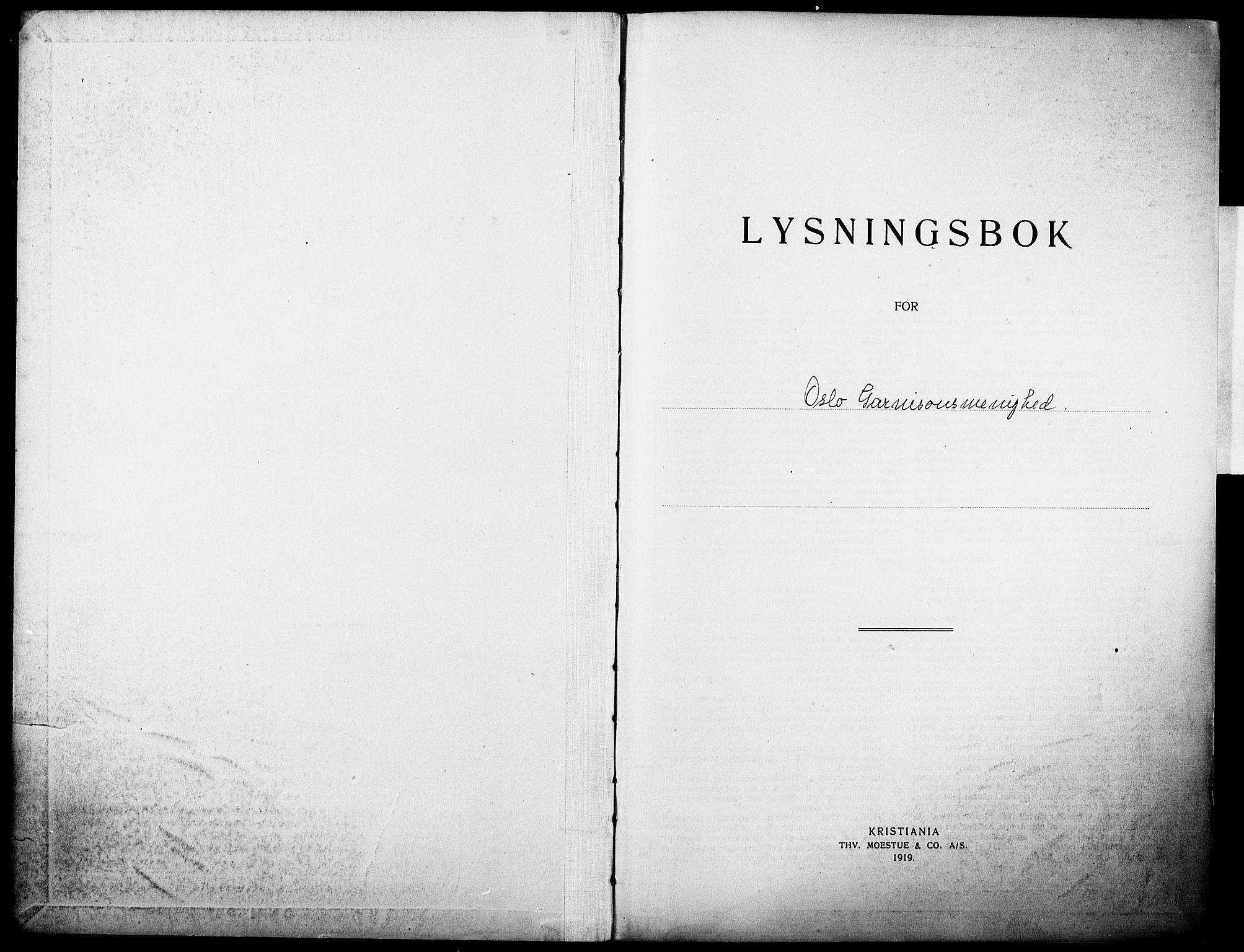 SAO, Garnisonsmenigheten Kirkebøker, H/Ha/L0010: Lysningsprotokoll nr. I 10, 1922-1932