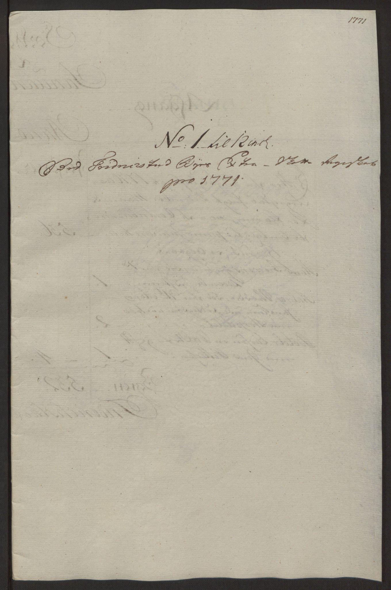 RA, Rentekammeret inntil 1814, Reviderte regnskaper, Byregnskaper, R/Rb/L0029: [B3] Kontribusjonsregnskap, 1762-1772, s. 375